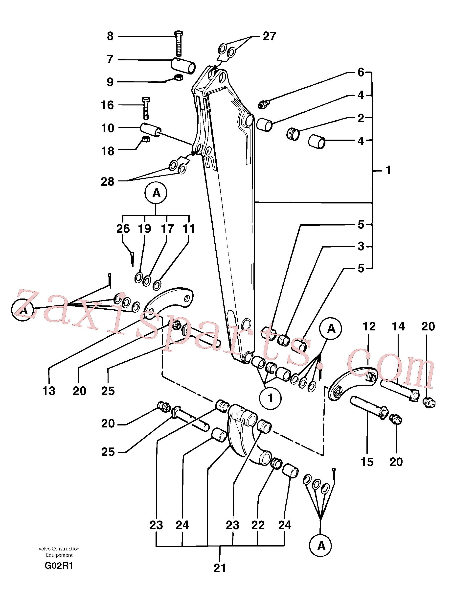 PJ5460189 for Volvo Dipper arm(G02R1 assembly)