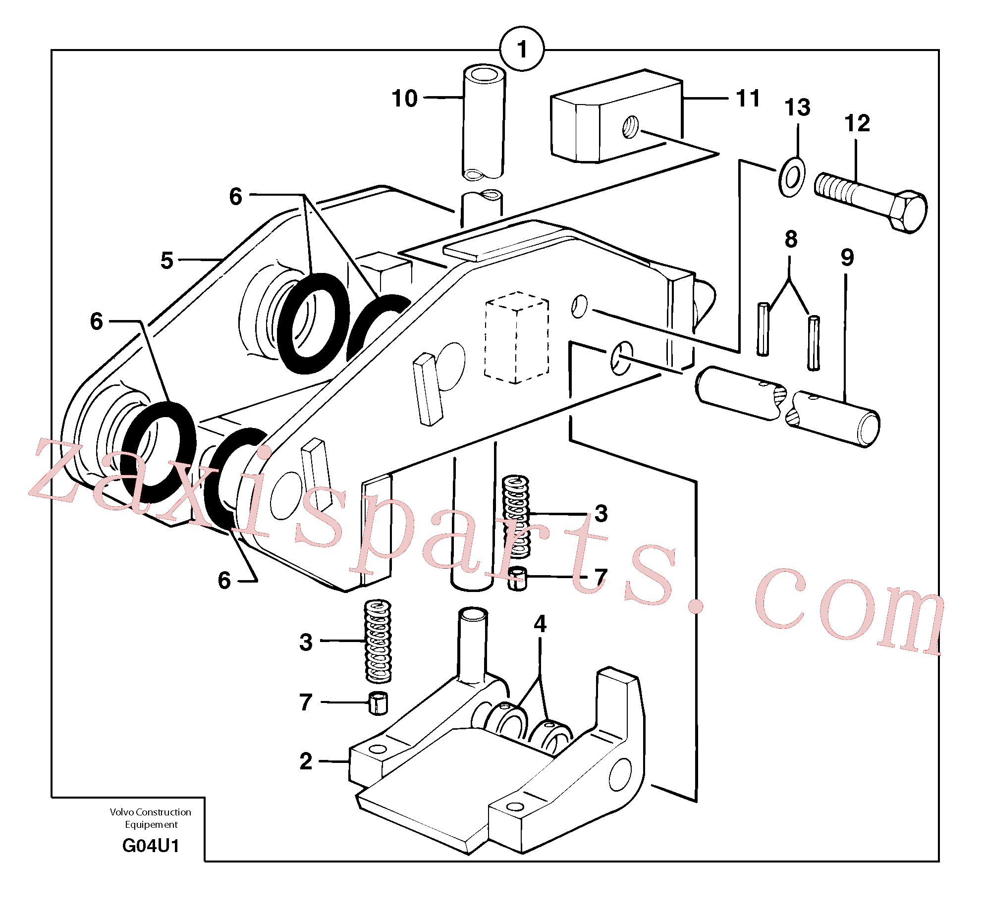 VOE11805707 for Volvo Tool holder / mechanical control(G04U1 assembly)