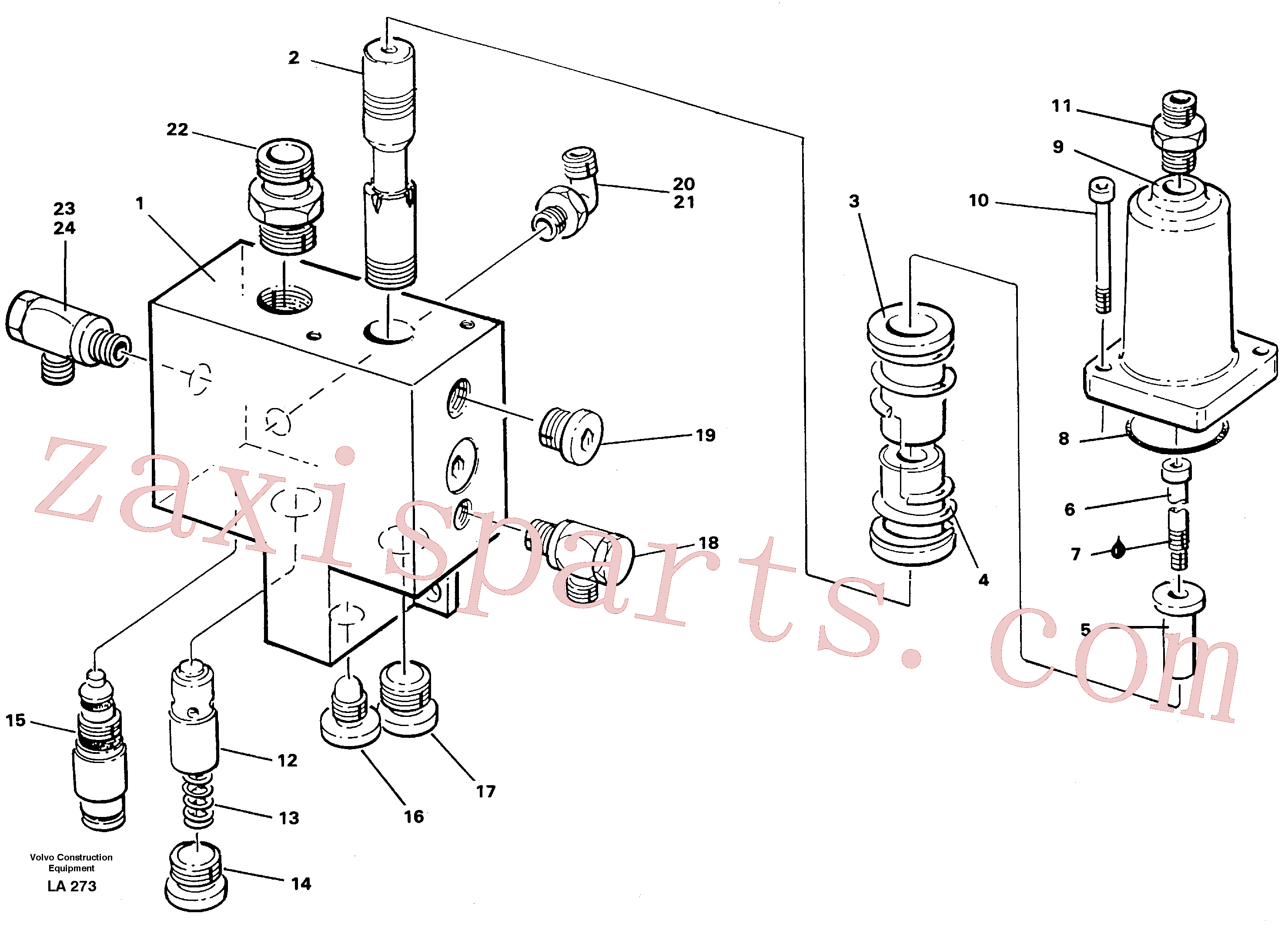 VOE14342428 for Volvo Hose rupture valve, boom cylinder(LA273 assembly)