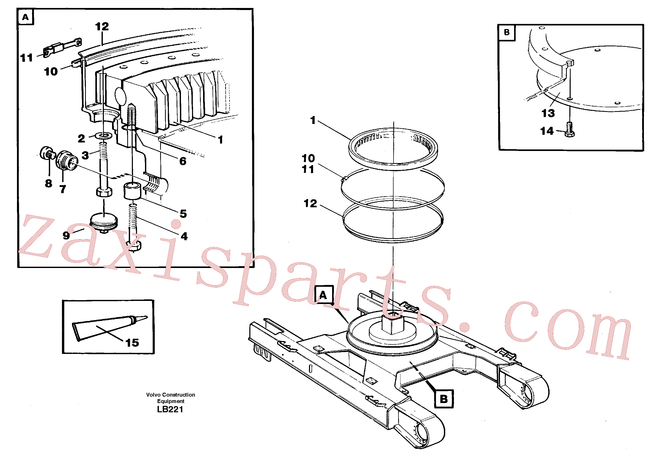 VOE14049631 for Volvo Slewing ring attachment(LB221 assembly)