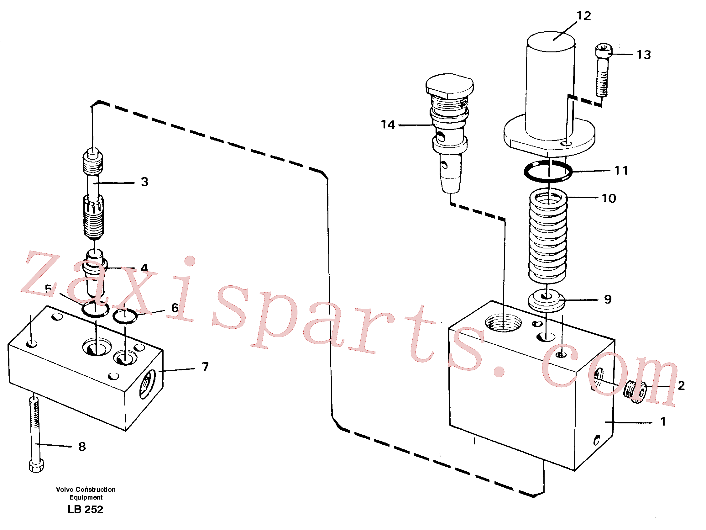 VOE14054984 for Volvo Thermostatic valve(LB252 assembly)