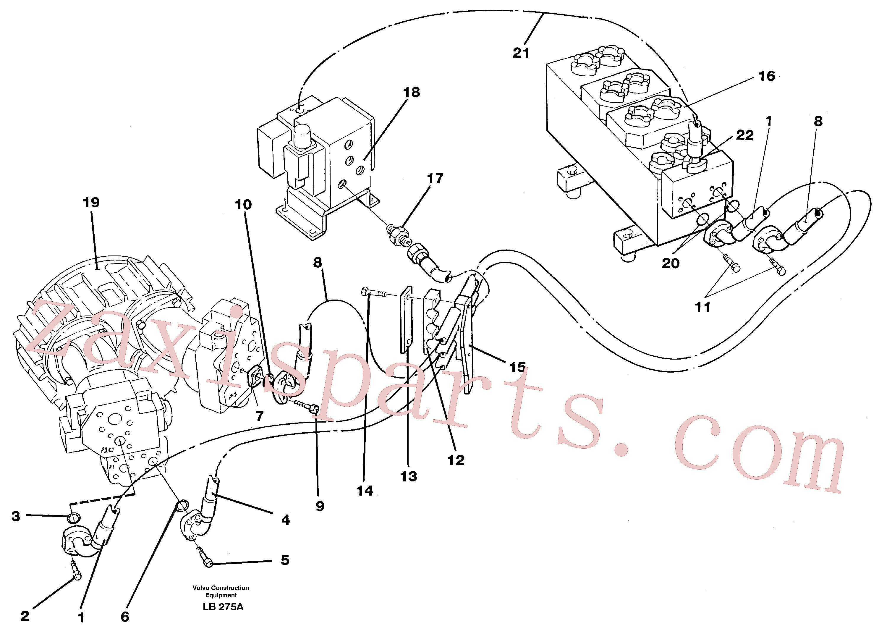 VOE14264009 for Volvo Hydraulic system, feed line(LB275A assembly)
