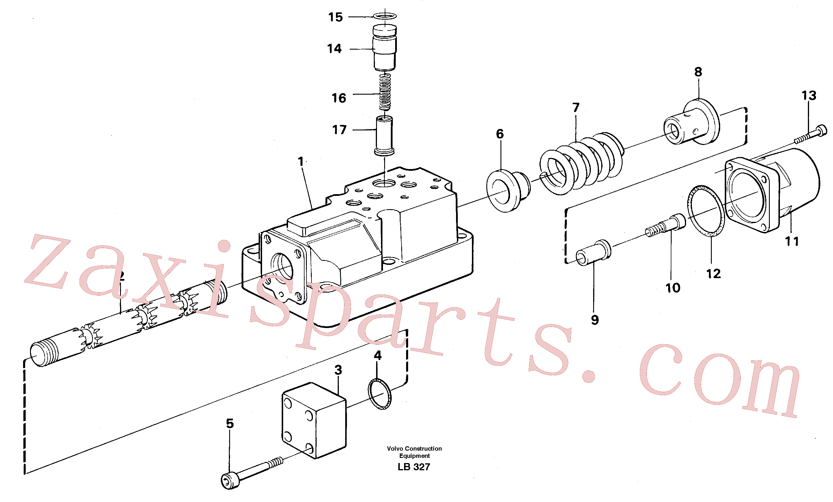 VOE14234787 for Volvo Four-way valve(LB327 assembly)