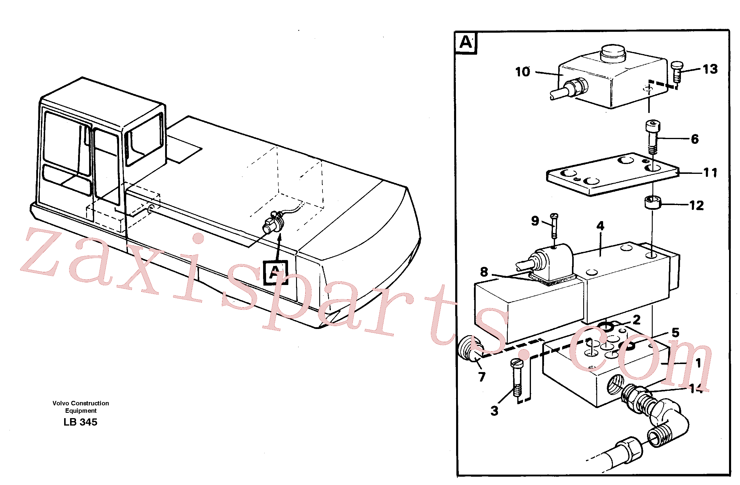 VOE14214602 for Volvo Overfilling guard(LB345 assembly)