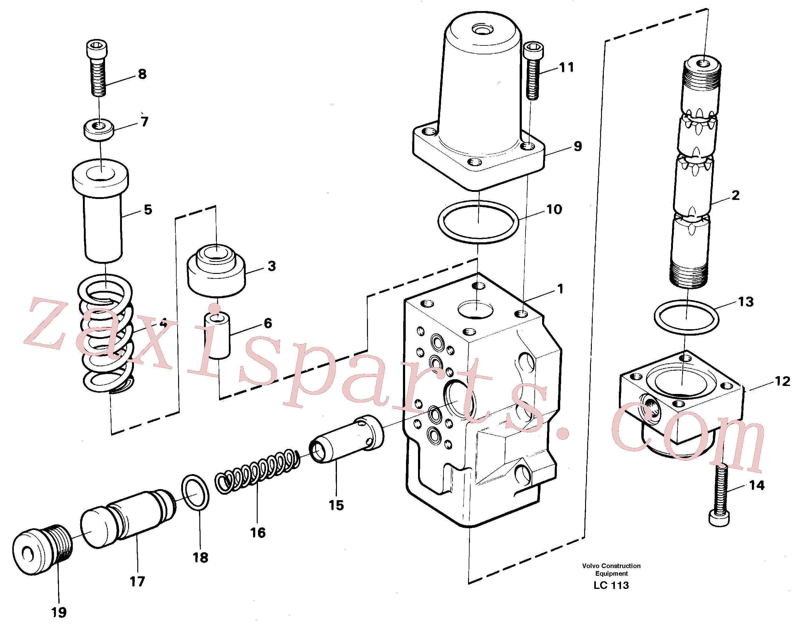 VOE14256962 for Volvo Fourway valve, boom primary(LC113 assembly)