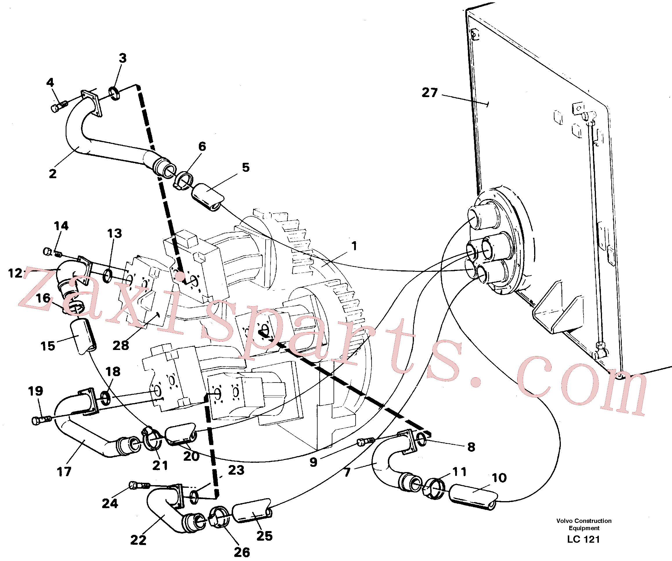 VOE14265283 for Volvo Hydraulic system suction lines(LC121 assembly)