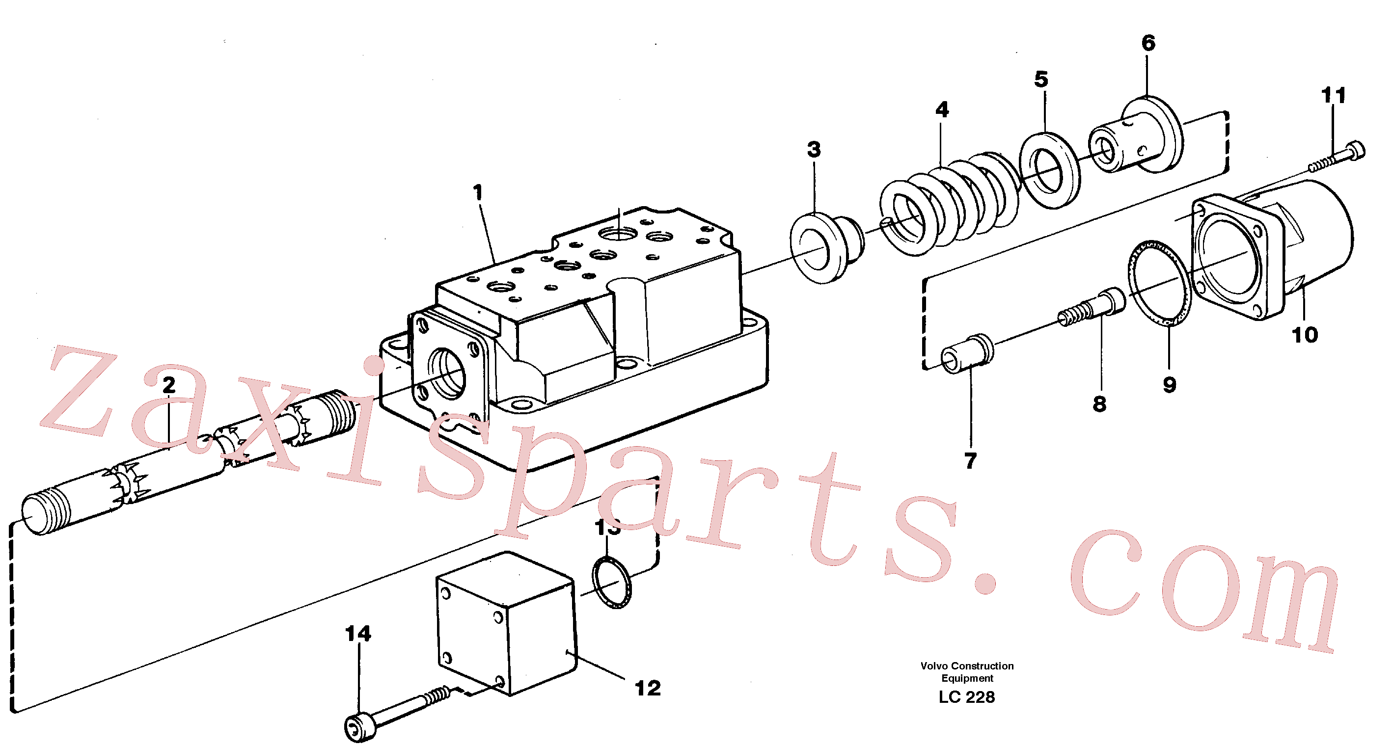 VOE14048555 for Volvo Four-way valve, rotating equipment(LC228 assembly)
