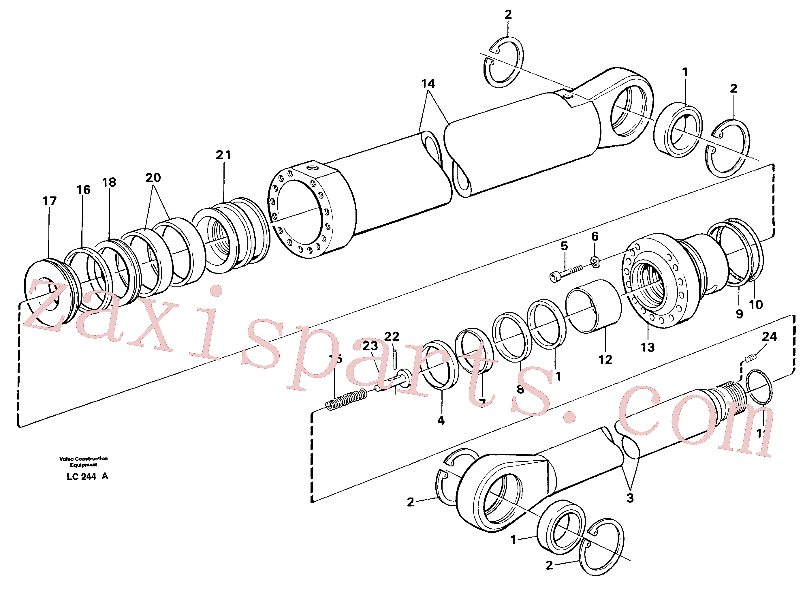 VOE14253051 for Volvo Boom cylinder,m.e.(LC244A assembly)