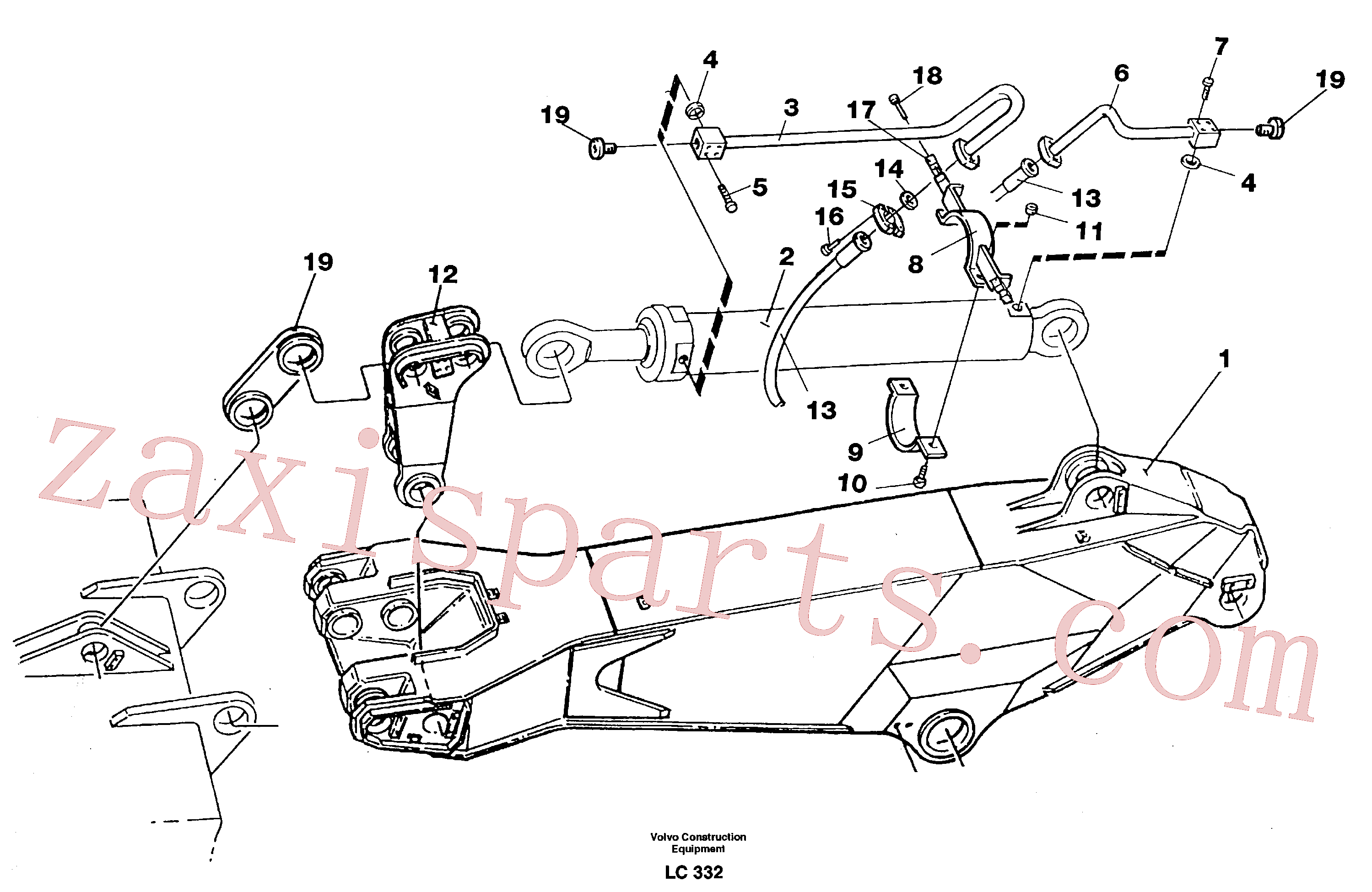 VOE14264061 for Volvo Hydraulic system, dipper arm 3.0 m(LC332 assembly)