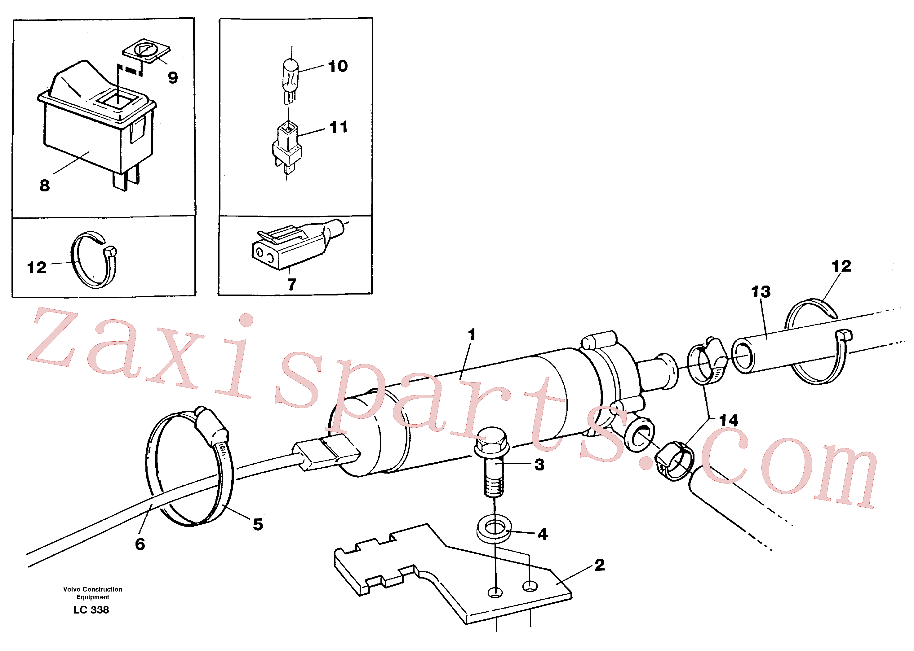 VOE976945 for Volvo Cirkulation pump(LC338 assembly)
