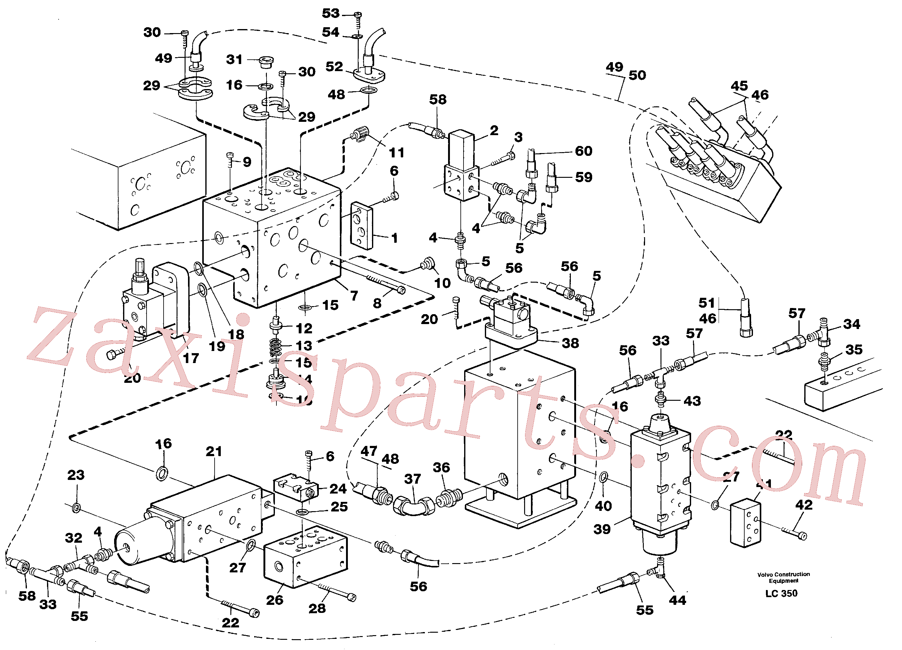 VOE14265516 for Volvo Hammer hydraulics on base machine(LC350 assembly)