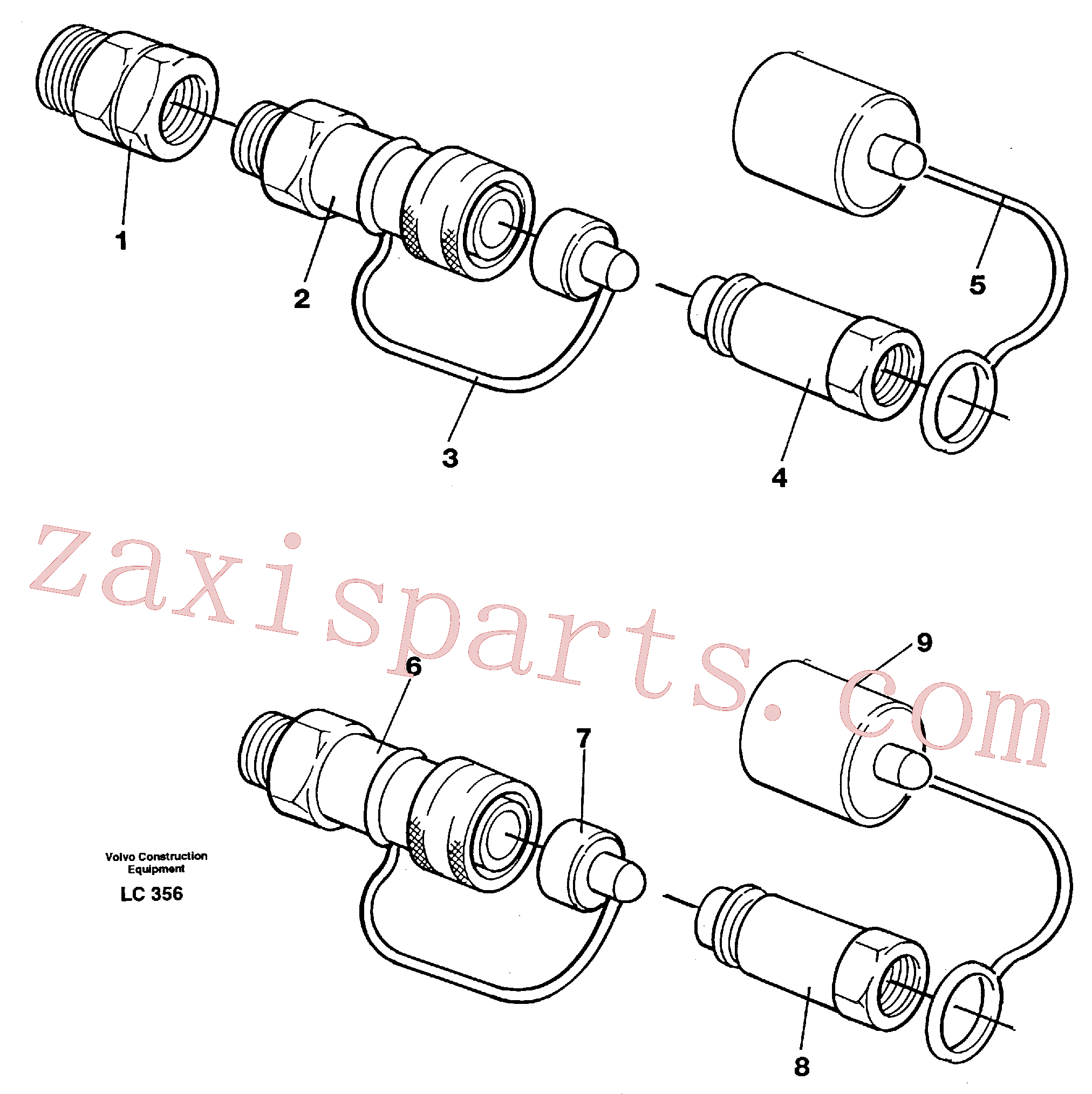 VOE14210942 for Volvo Quick connection kit, grab equipment(LC356 assembly)