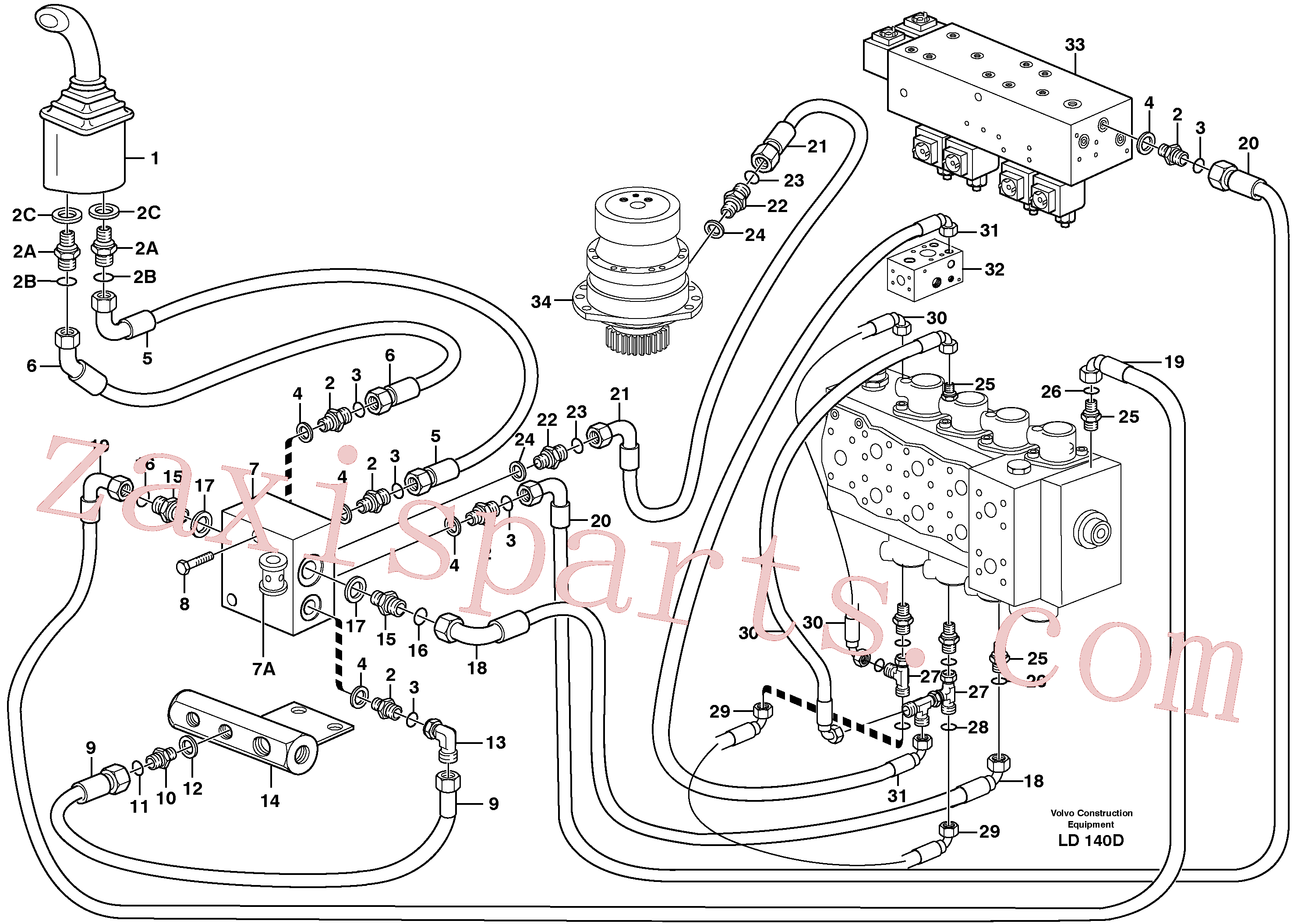 VOE14371905 for Volvo Servo hydraulics, Slewing(LD140D assembly)