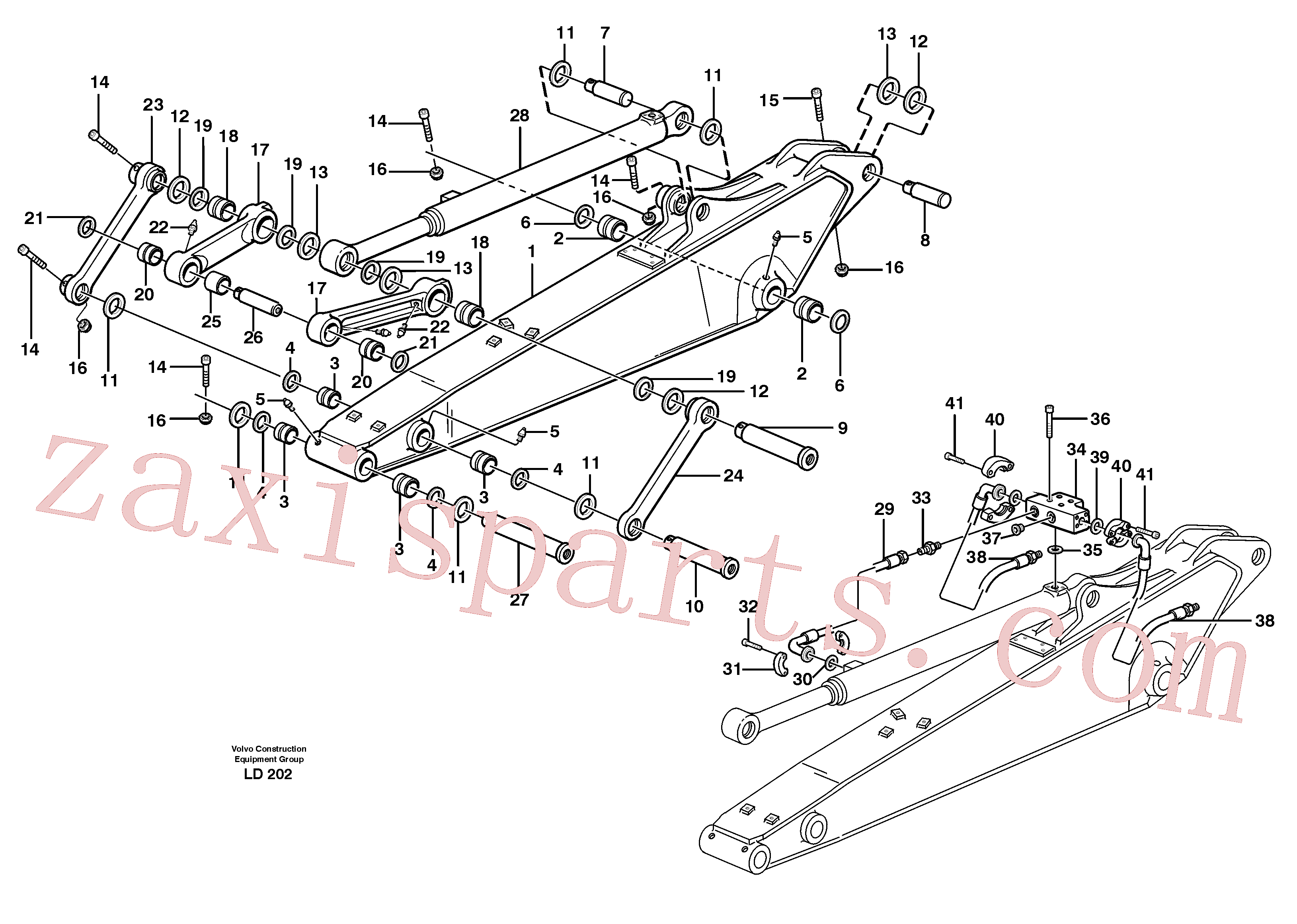 VOE14370742 for Volvo Dipper arm incl. connect.(LD202 assembly)