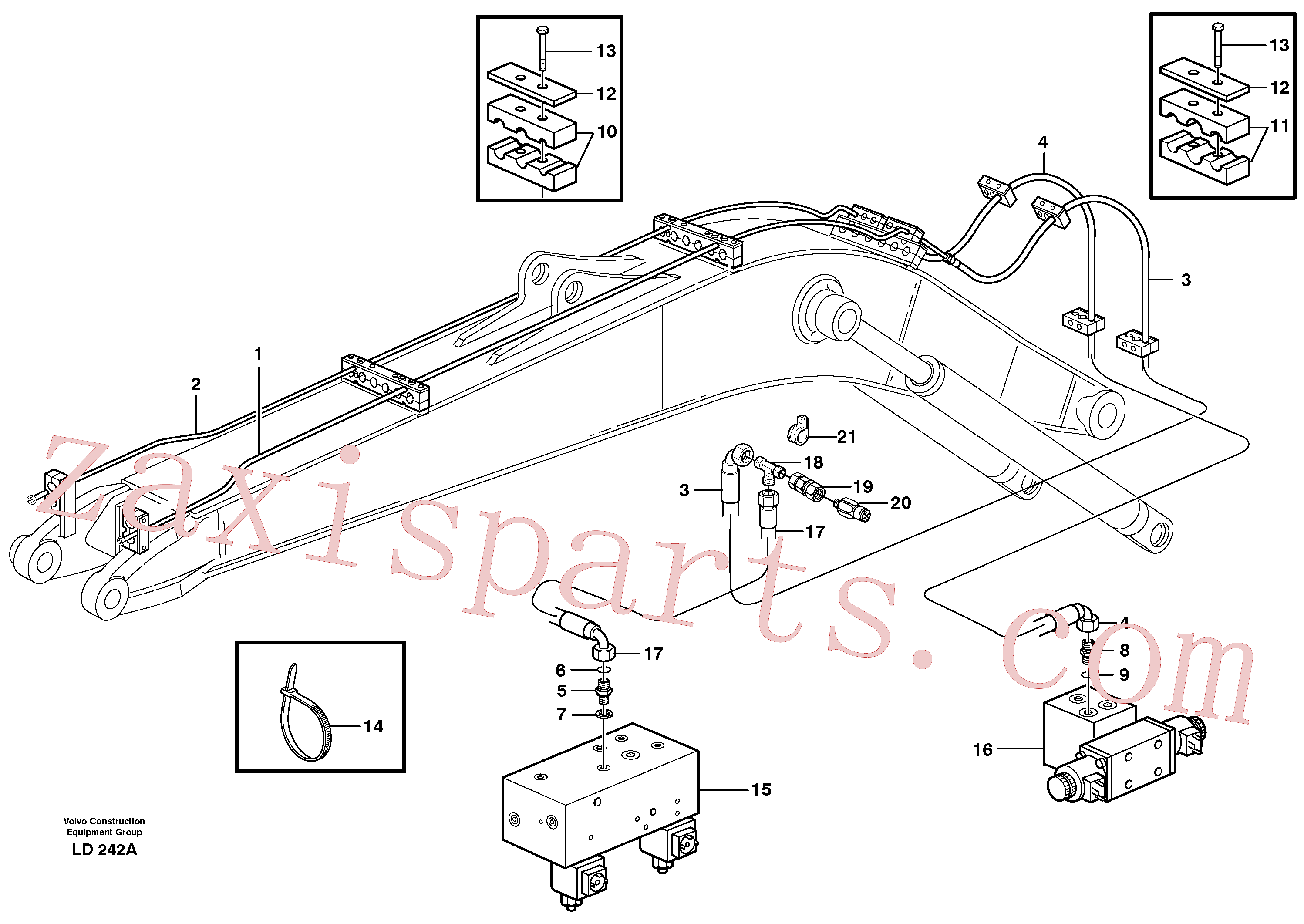 VOE14346686 for Volvo Hydr. quick fit equipm. on mono boom(LD242A assembly)