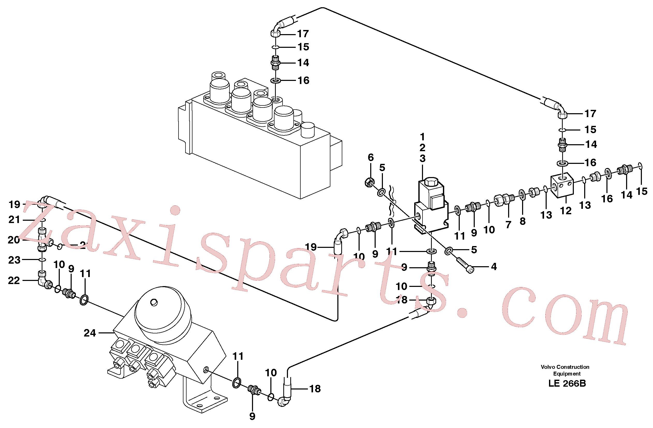 VOE11706826 for Volvo Hammer control(LE266B assembly)