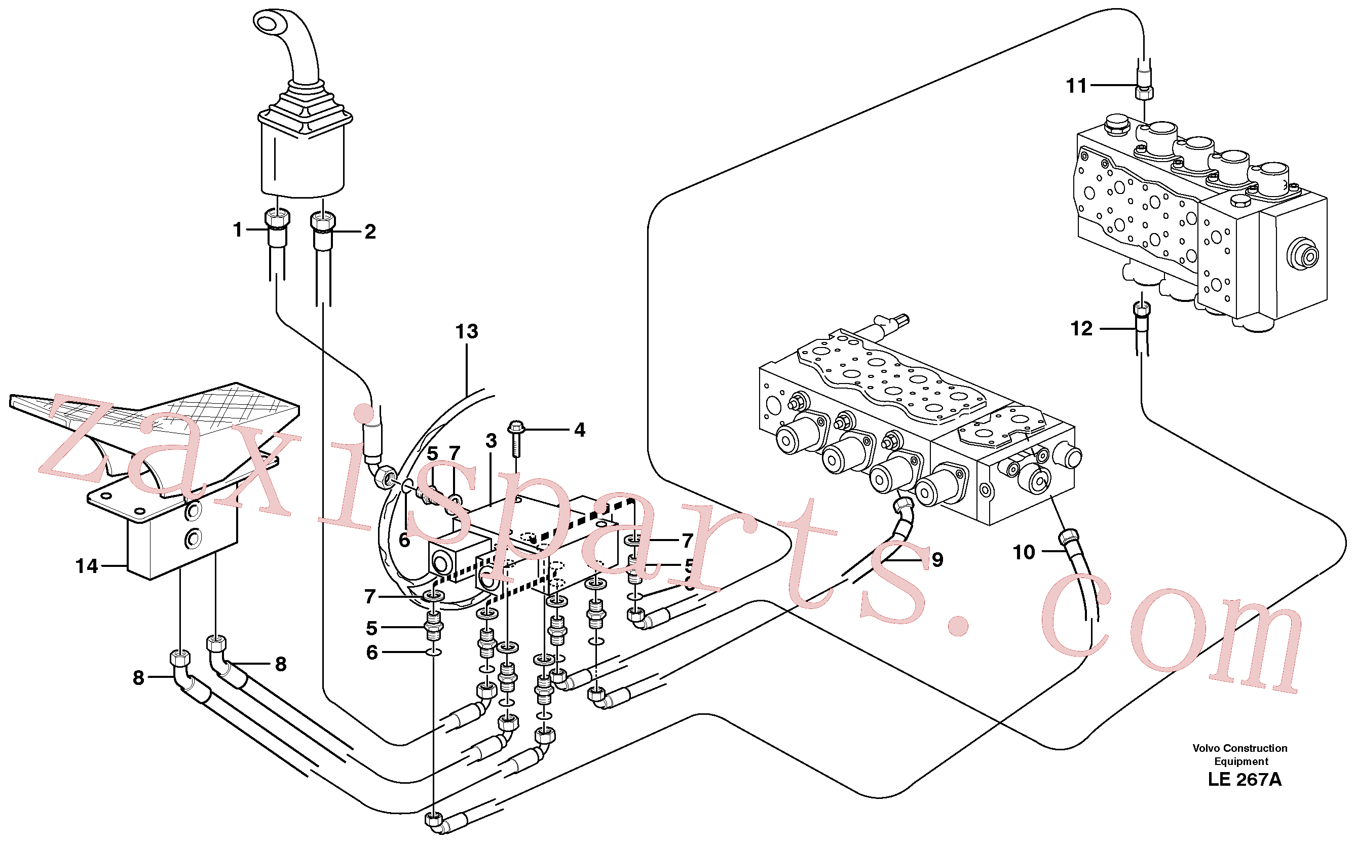 VOE14346787 for Volvo Servo hydraulics, grab bucket(LE267A assembly)