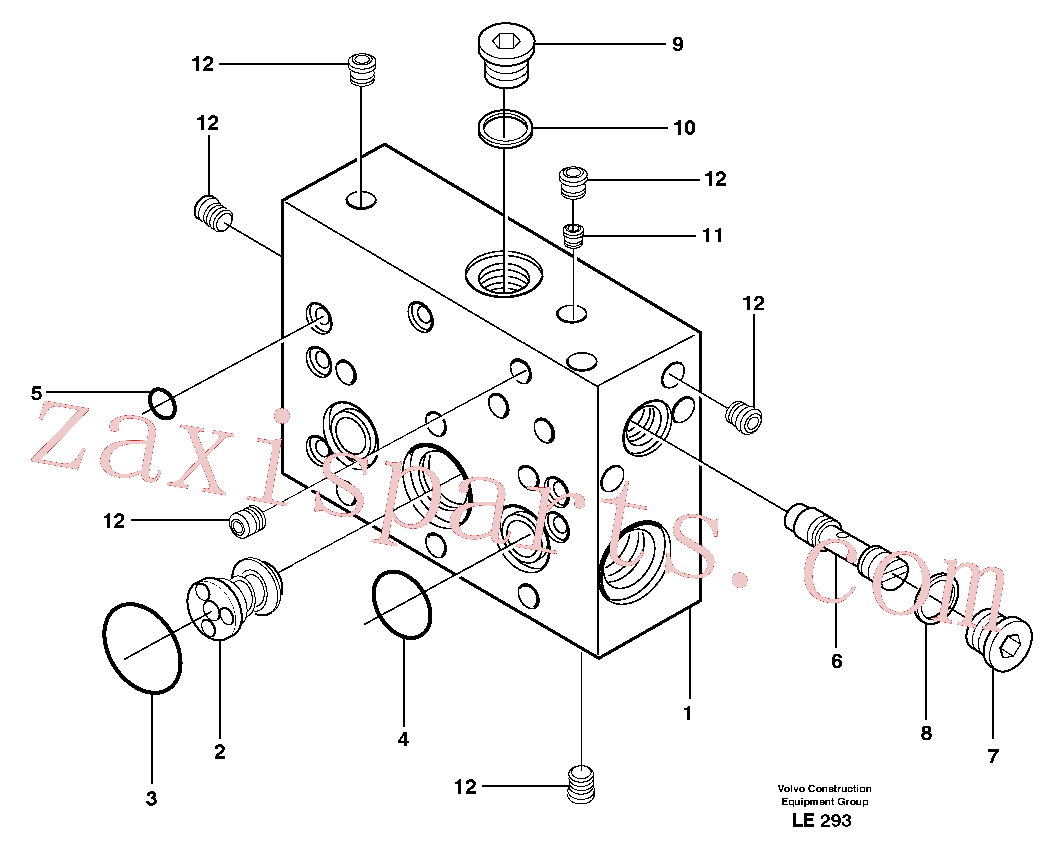 VOE11708202 for Volvo Intermediate housing(LE293 assembly)