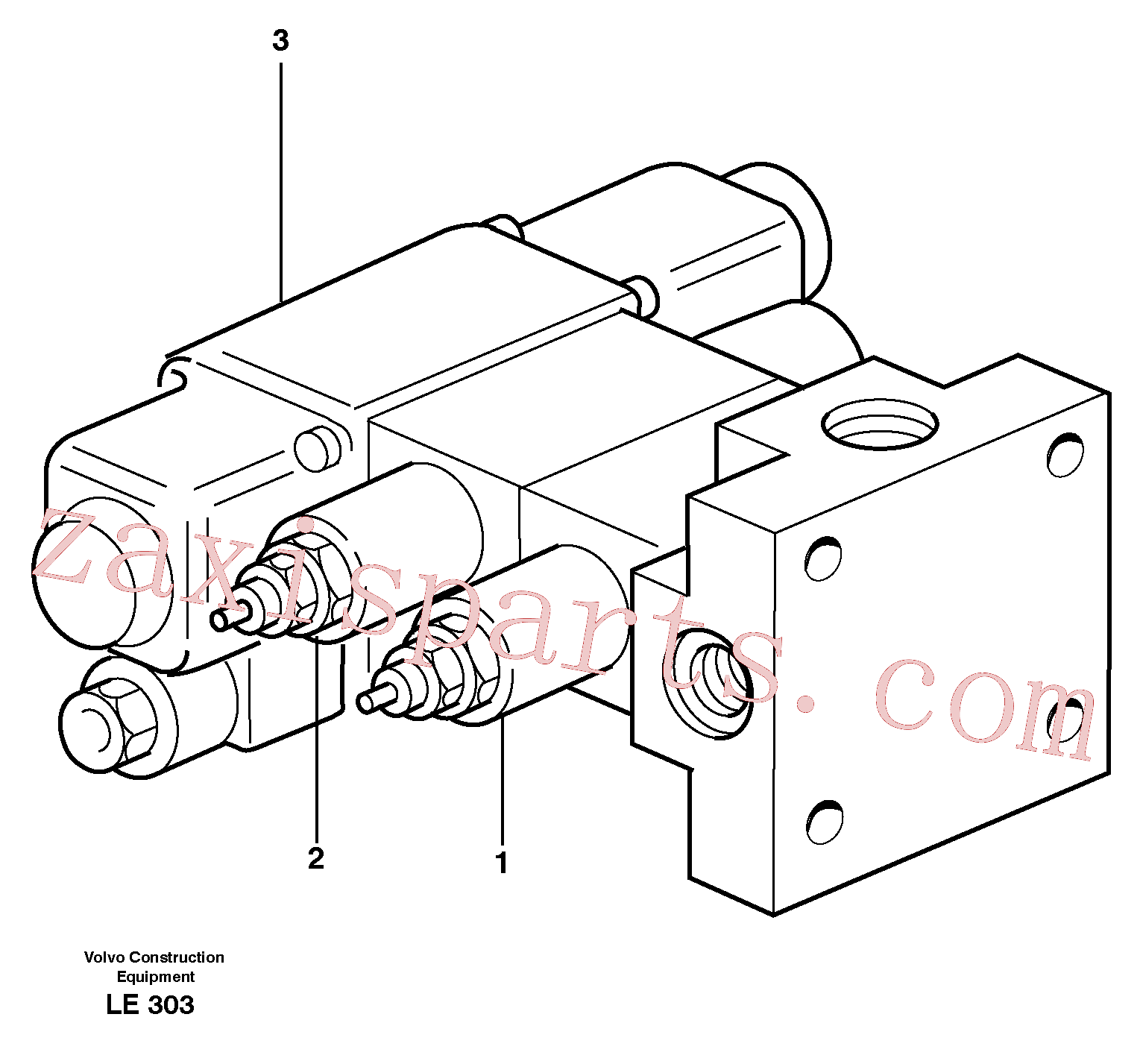 VOE11706623 for Volvo Magnet valve(LE303 assembly)