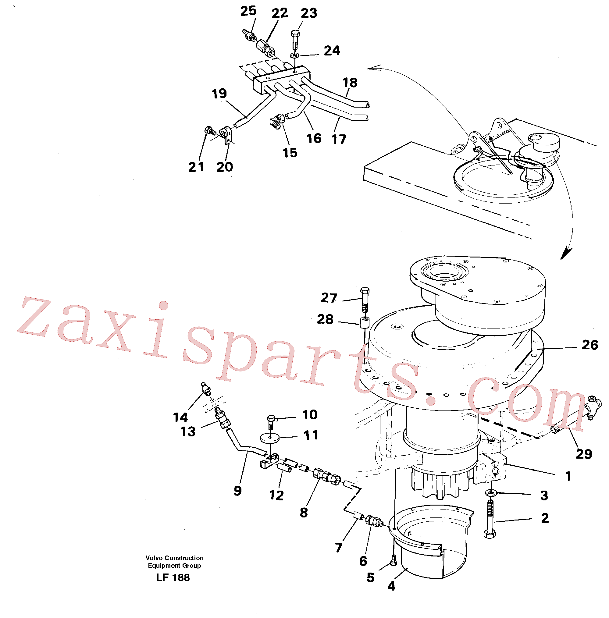 VOE14259689 for Volvo Superstructure with slew transmission(LF188 assembly)