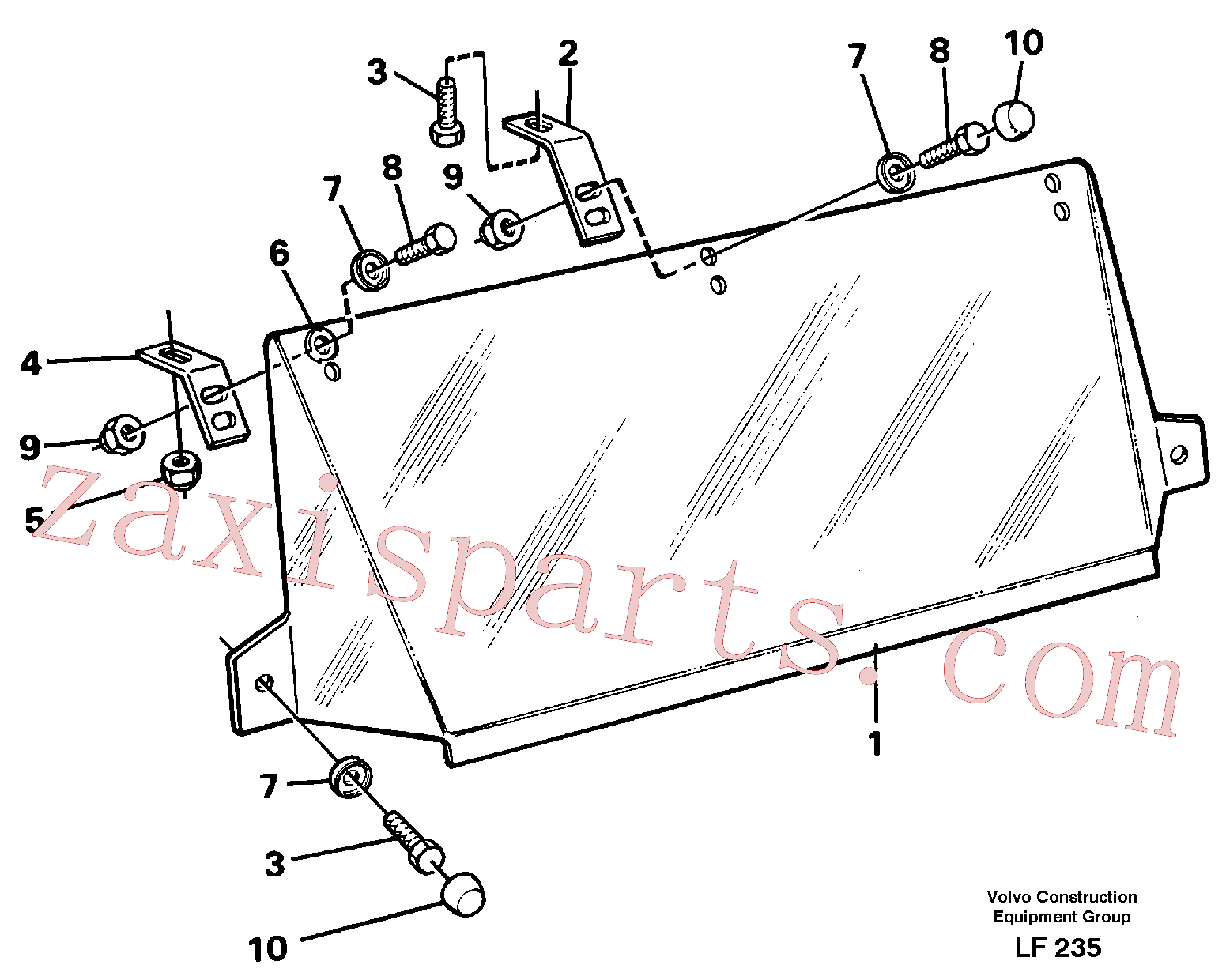 VOE14250504 for Volvo Sun visor Outer(LF235 assembly)