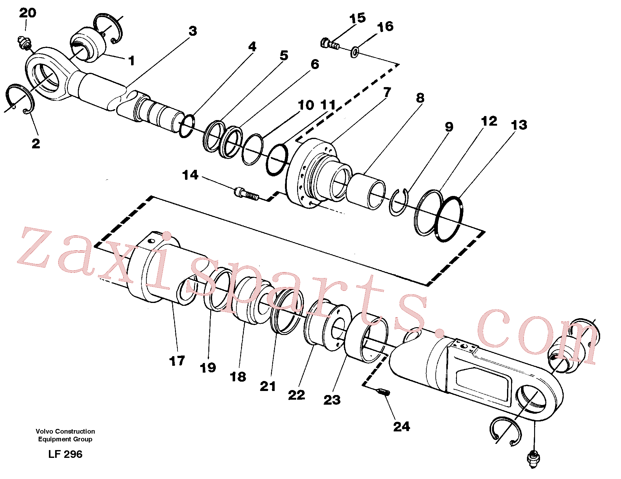 VOE14265493 for Volvo Knuckle cylinder(LF296 assembly)