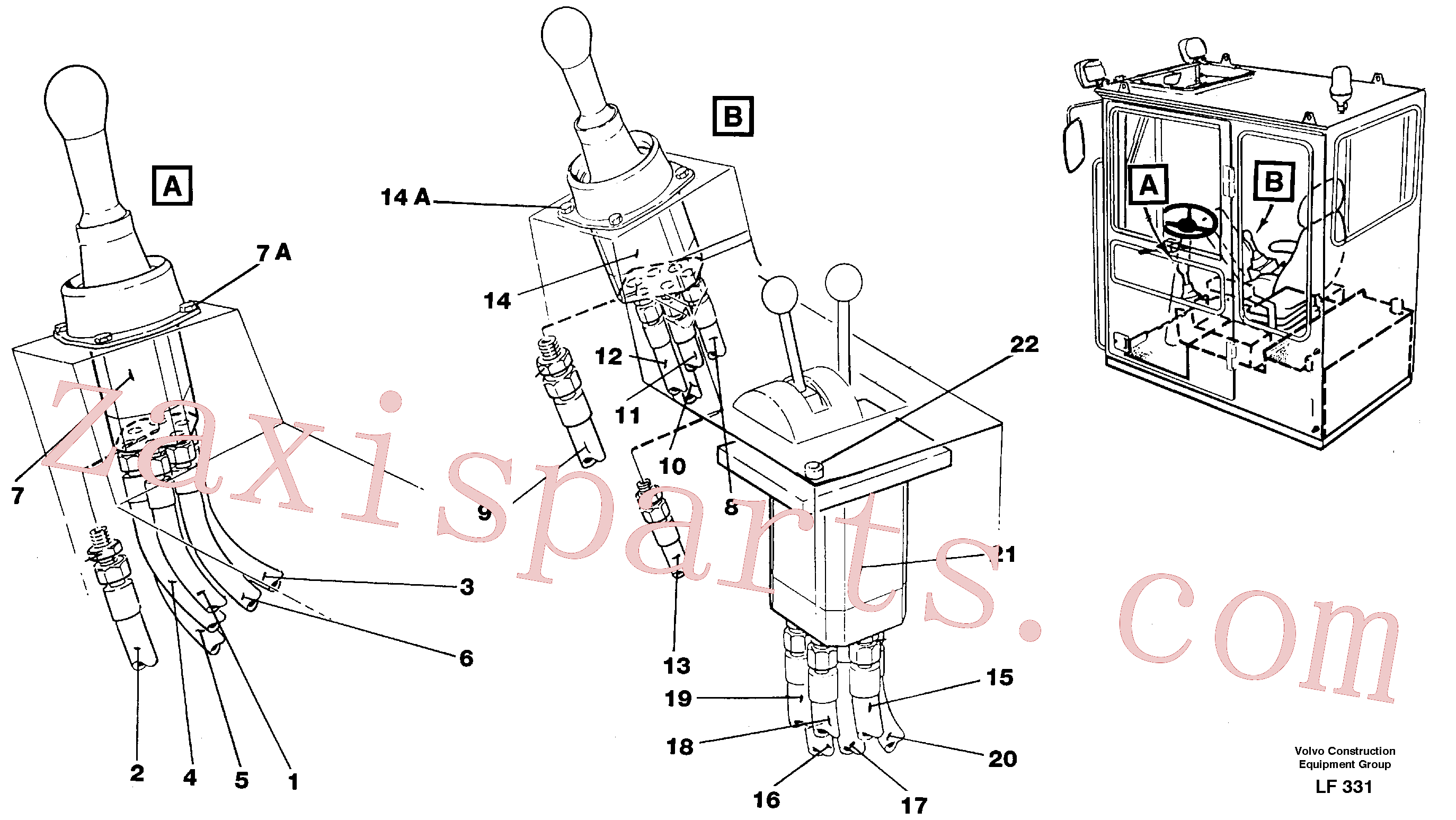 VOE14250294 for Volvo Joy Stick Left and Right(LF331 assembly)