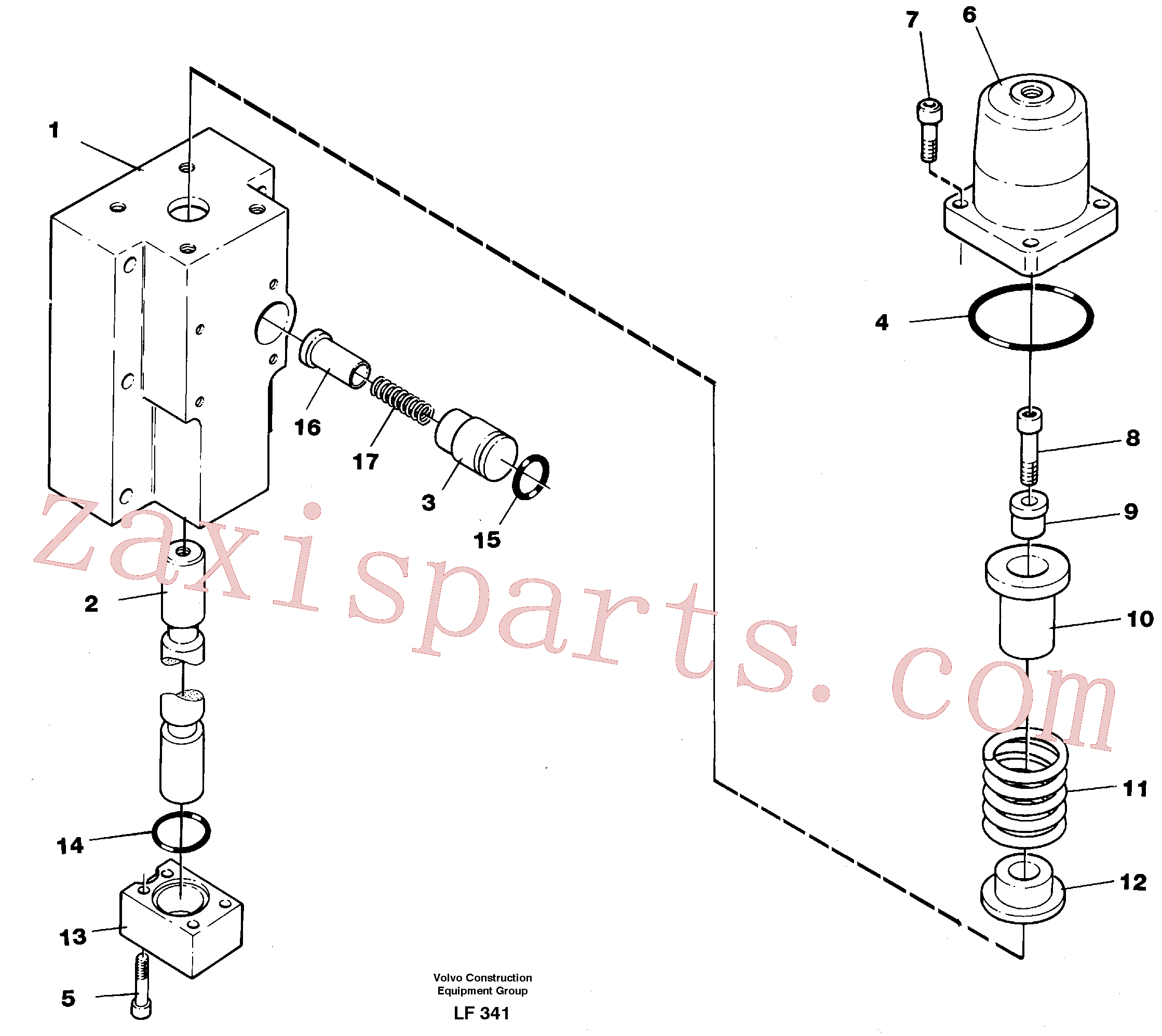 VOE14250509 for Volvo Four-way valve, bucket primary(LF341 assembly)