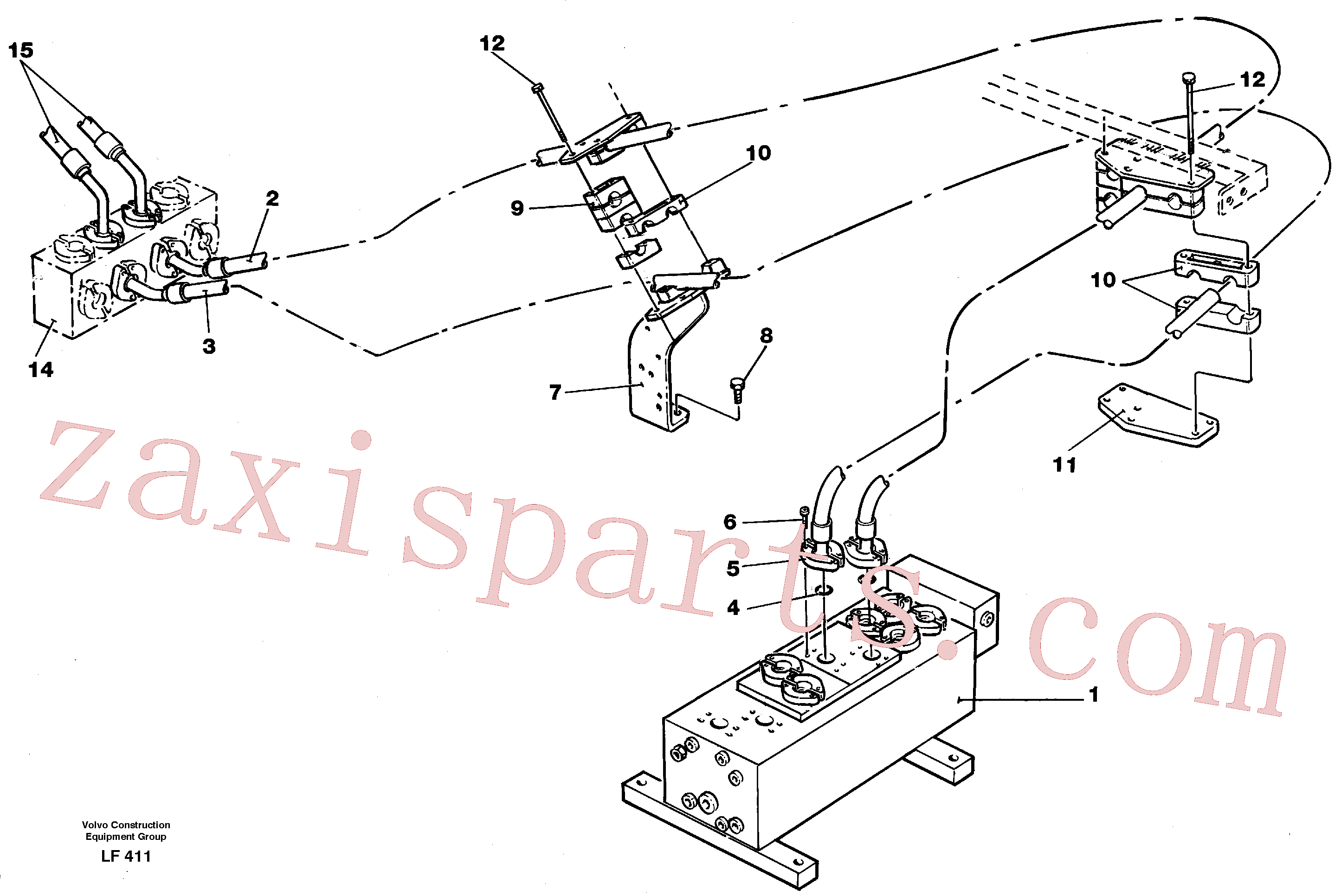 VOE14255385 for Volvo Hydraulic system Dipper arm(LF411 assembly)
