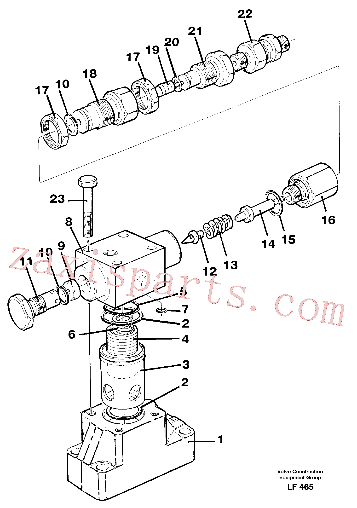 VOE14340724 for Volvo Pressure limiting valve(LF465 assembly)