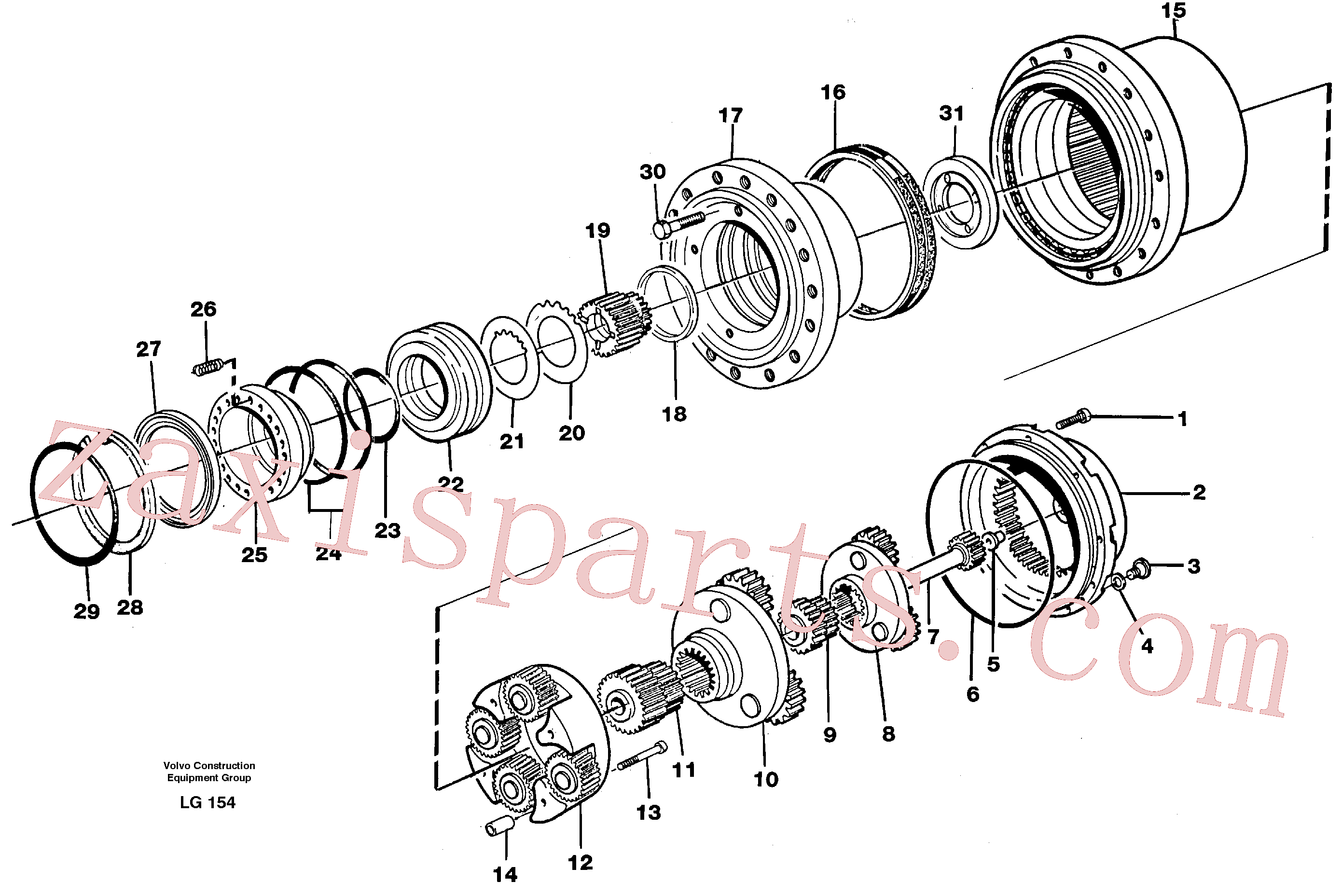 RM70921093 for Volvo Planetary gear, travel(LG154 assembly)