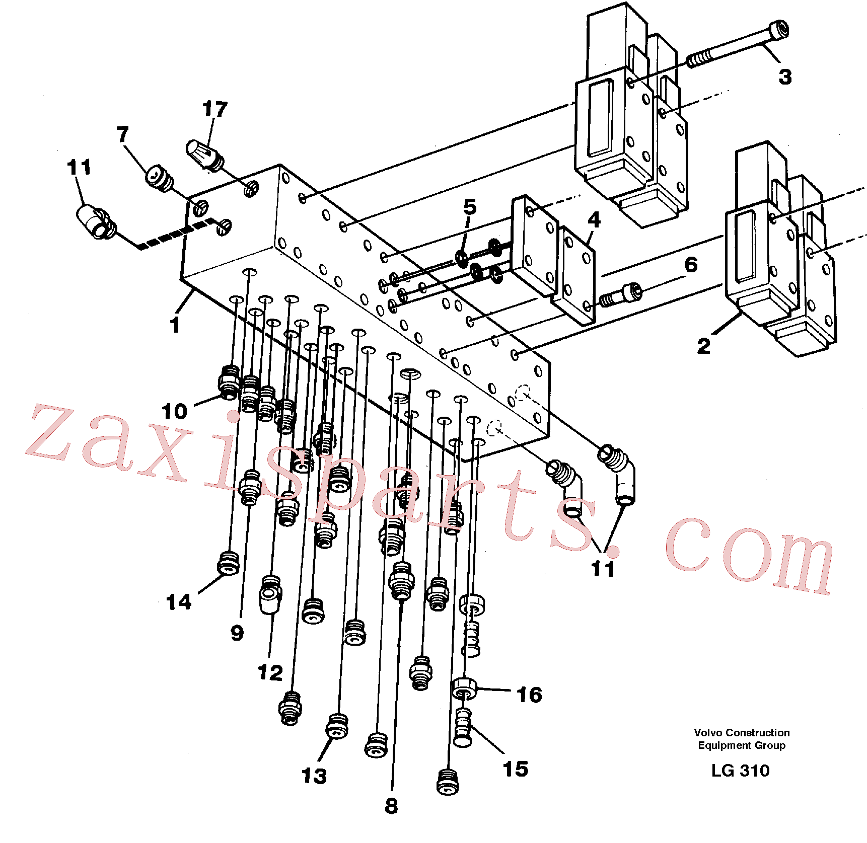 VOE14212598 for Volvo Control valve block(LG310 assembly)