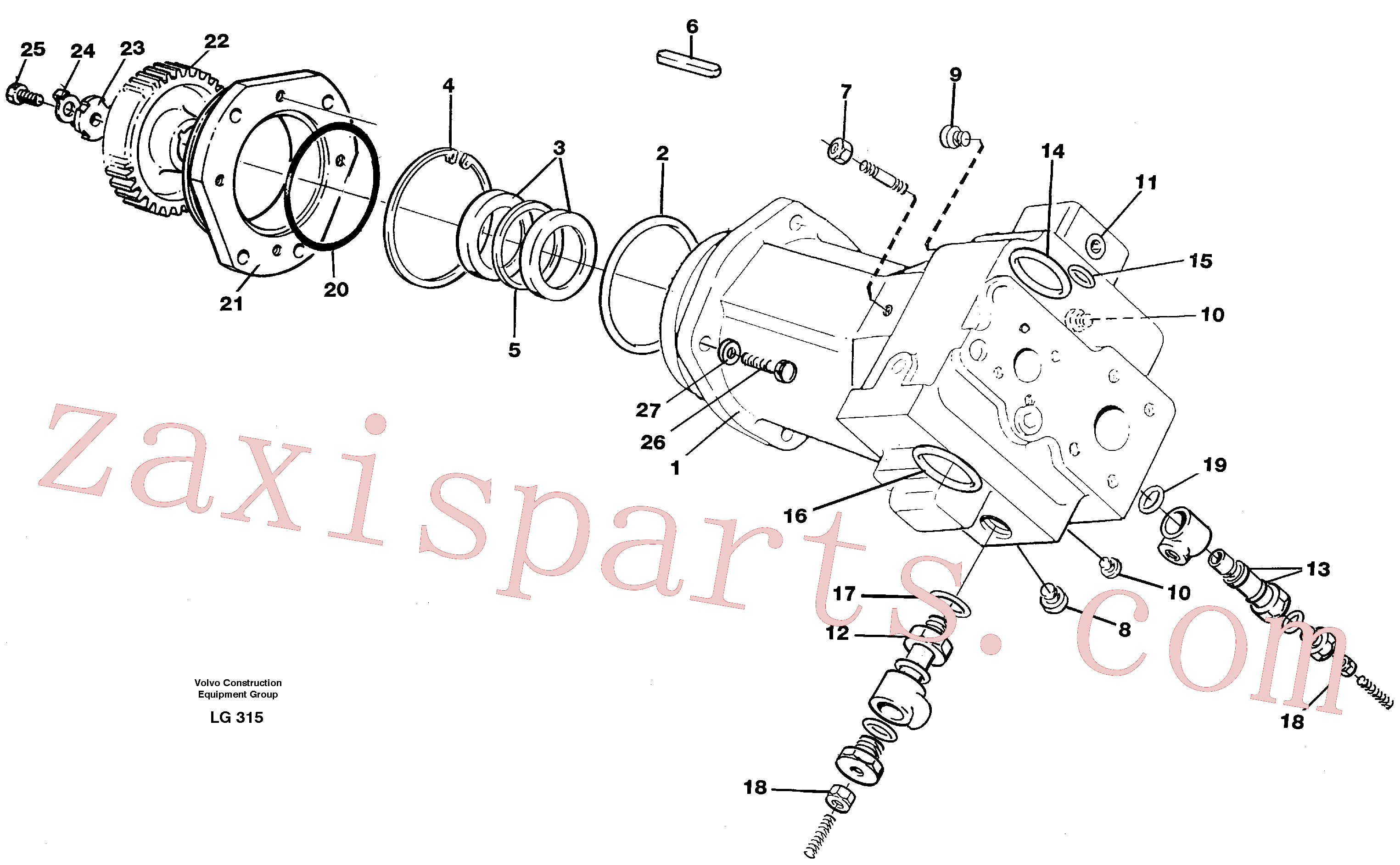 ZM2282576 for Volvo Hydraulic pump(LG315 assembly)