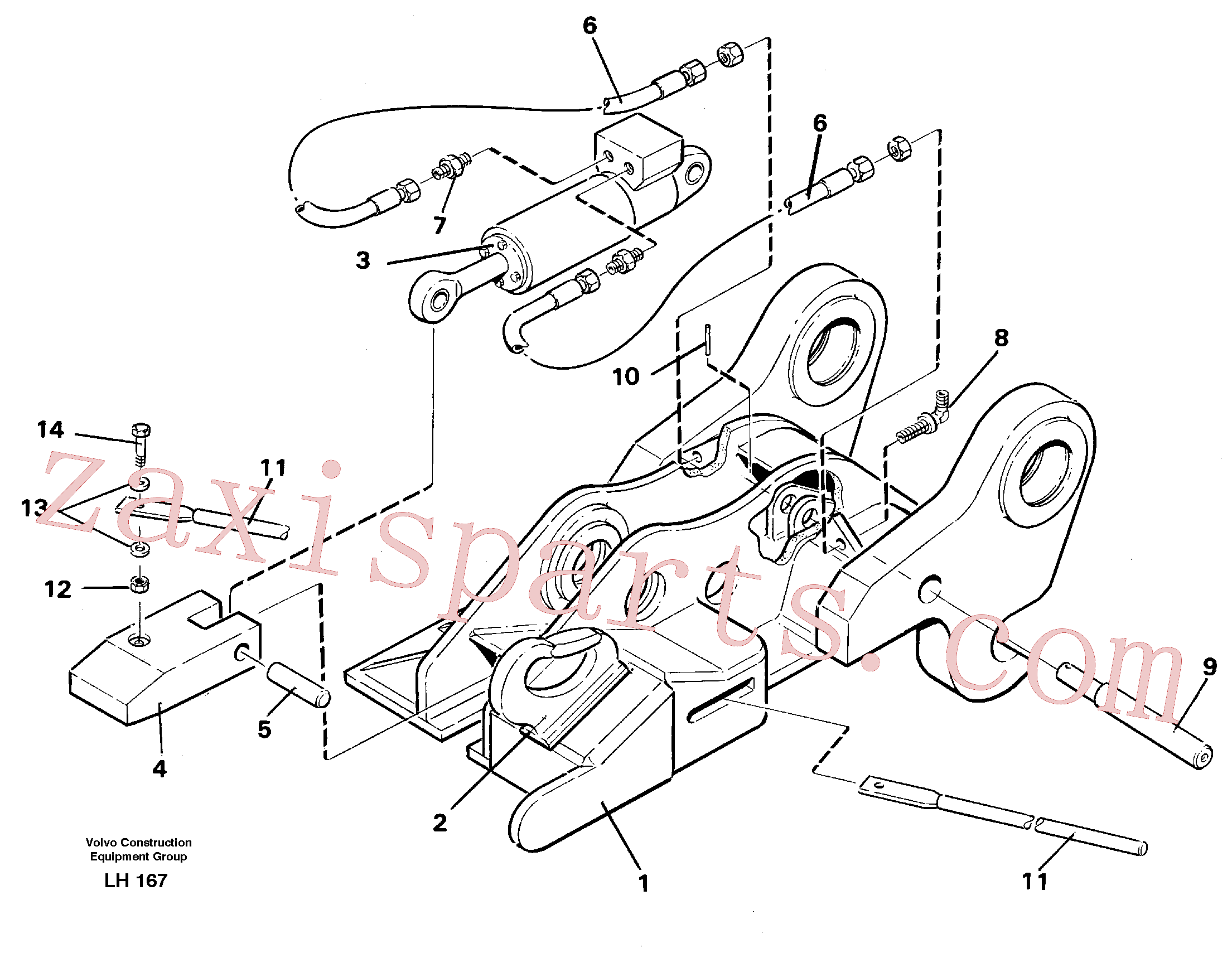 VOE14237587 for Volvo Quickfit, hydraulic(LH167 assembly)