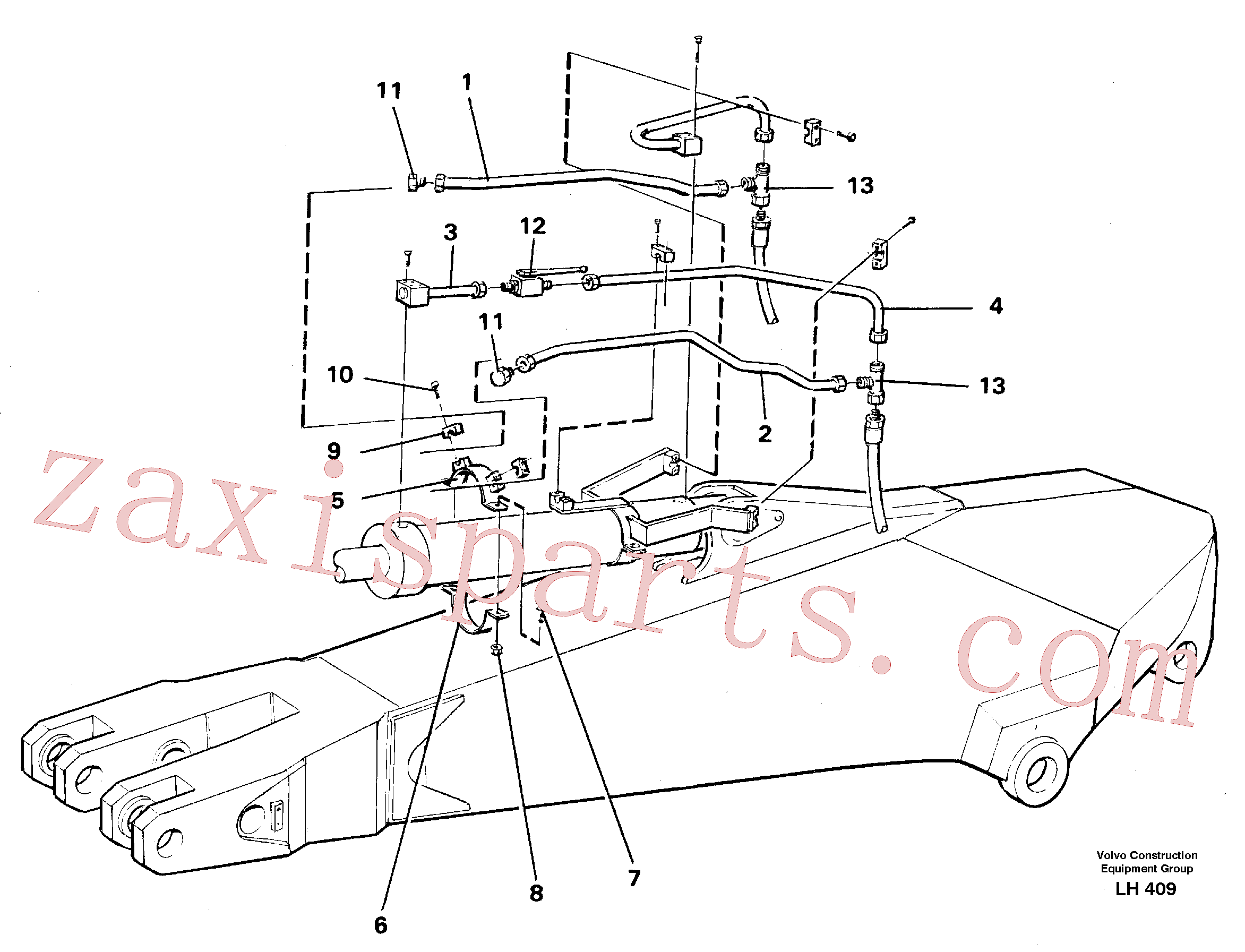 VOE14249977 for Volvo Parallel connected grab hydraulics on dipper arm(LH409 assembly)