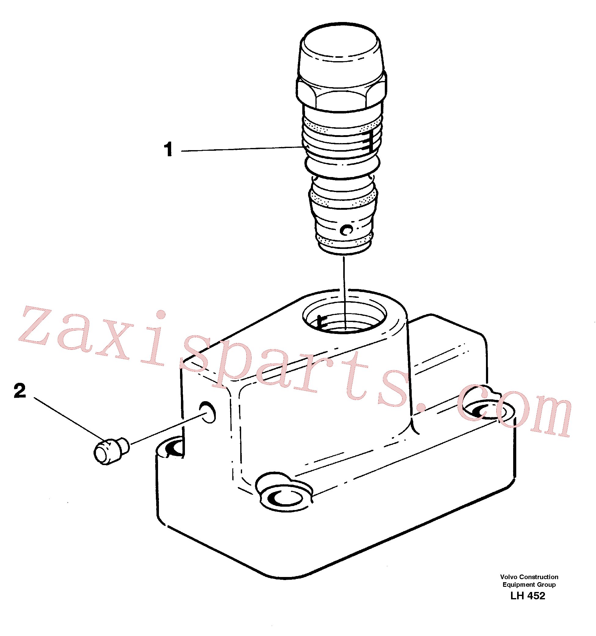VOE14267238 for Volvo Pressure limiting valve(LH452 assembly)