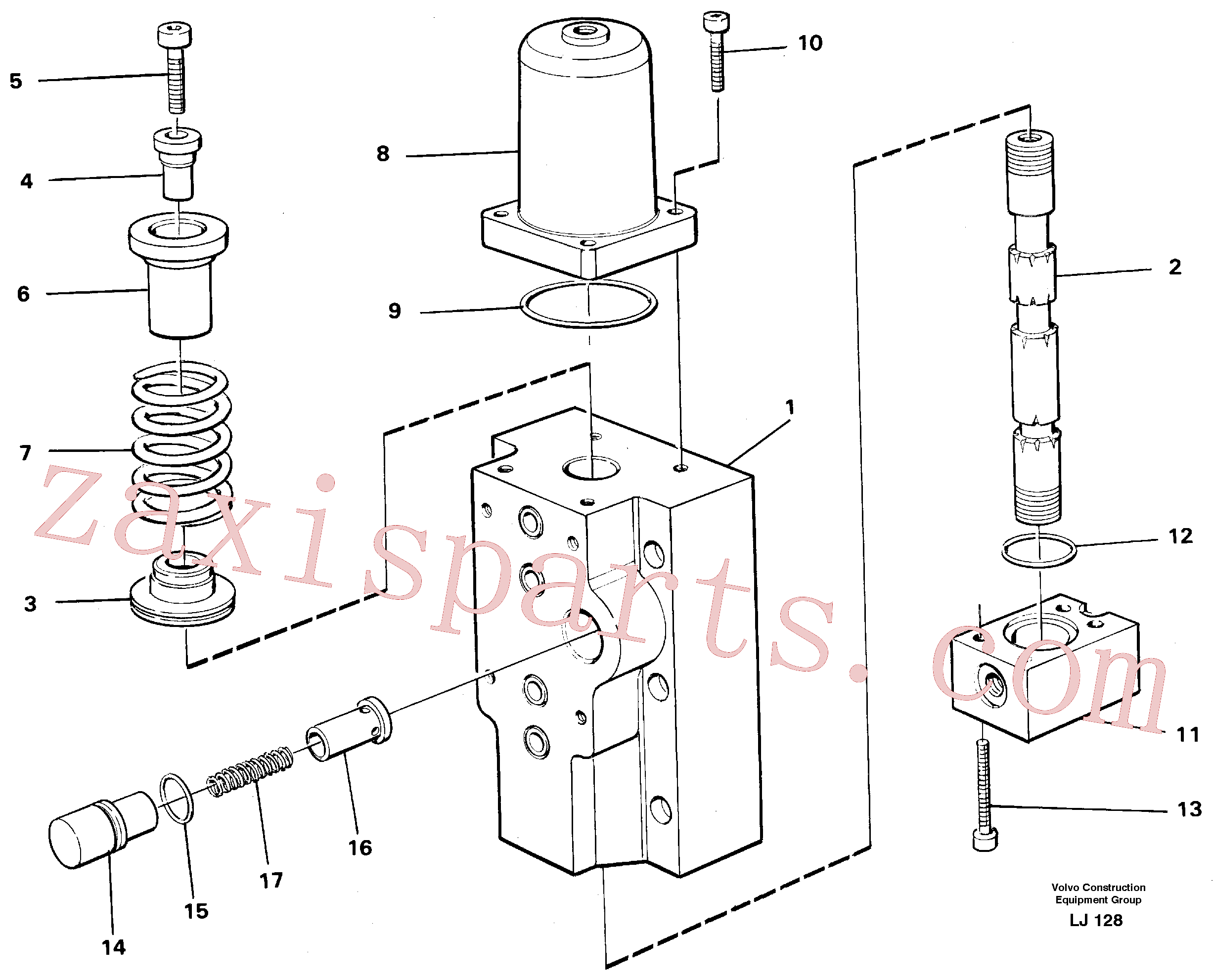 VOE14048558 for Volvo Four-way valves Primary, Four-way valve for hammer/shears(LJ128 assembly)