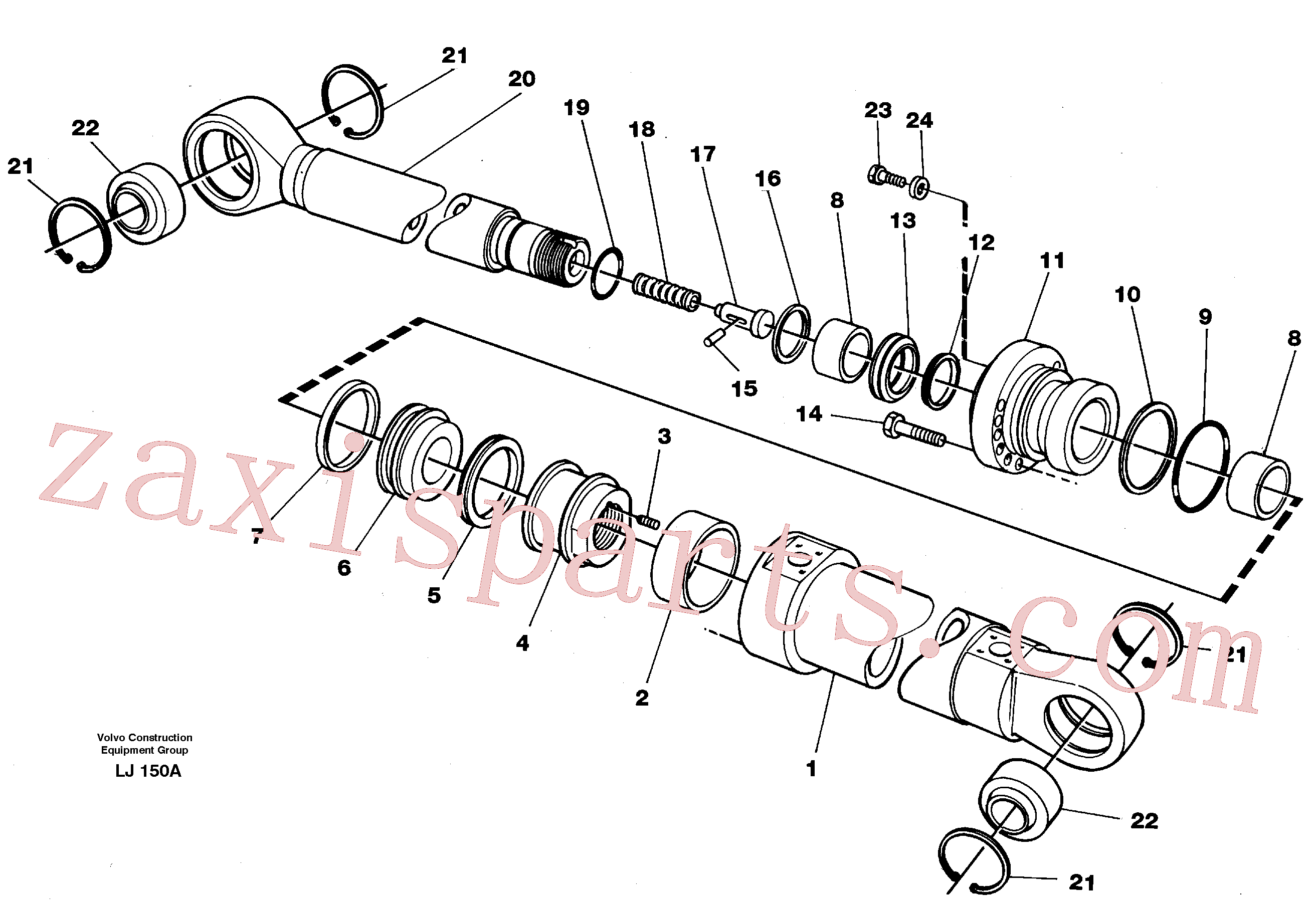 VOE14043067 for Volvo Bucket cylinder(LJ150A assembly)
