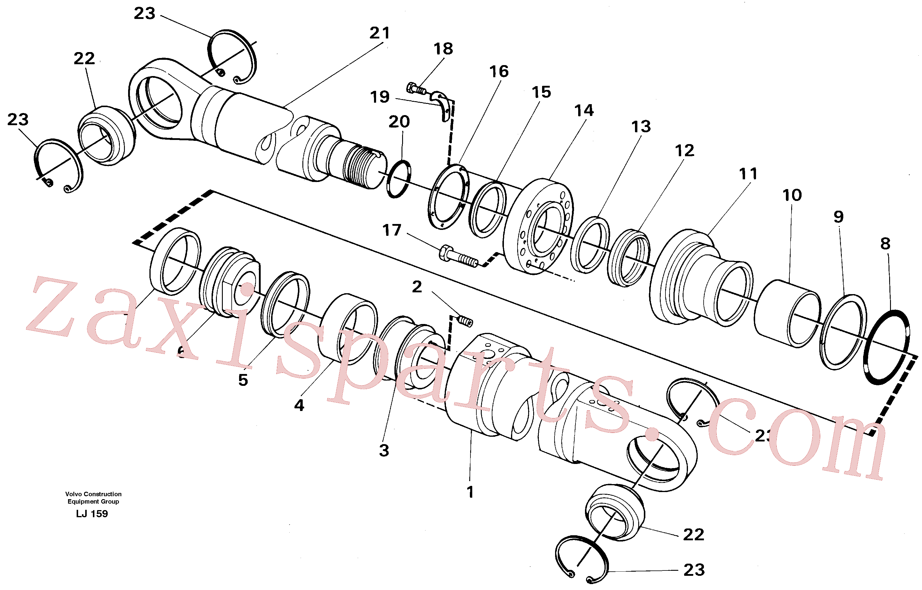 VOE14230235 for Volvo Dipper arm cylinder Material handle equipm.(LJ159 assembly)