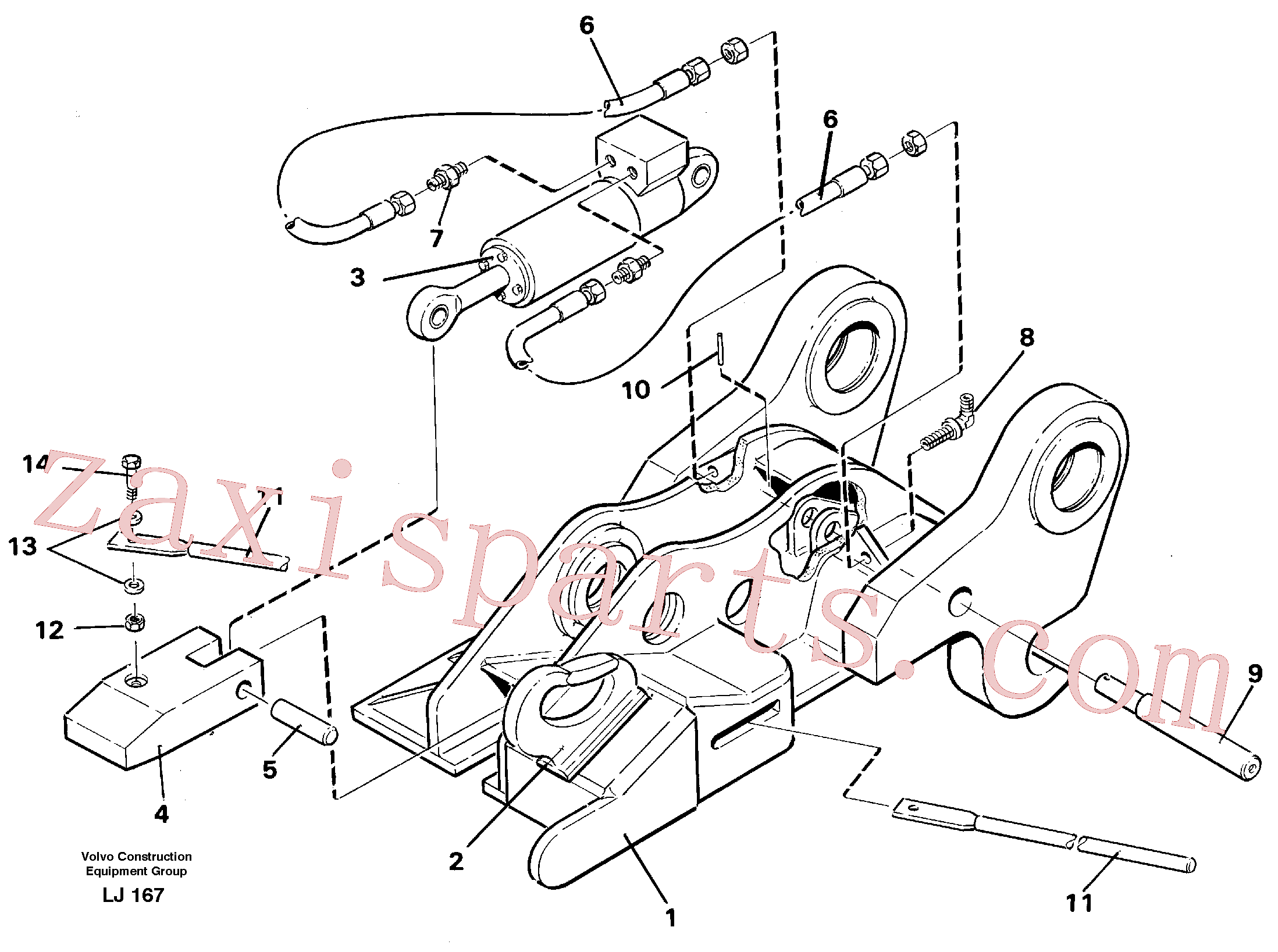 VOE14237587 for Volvo Quickfit, hydraulic(LJ167 assembly)