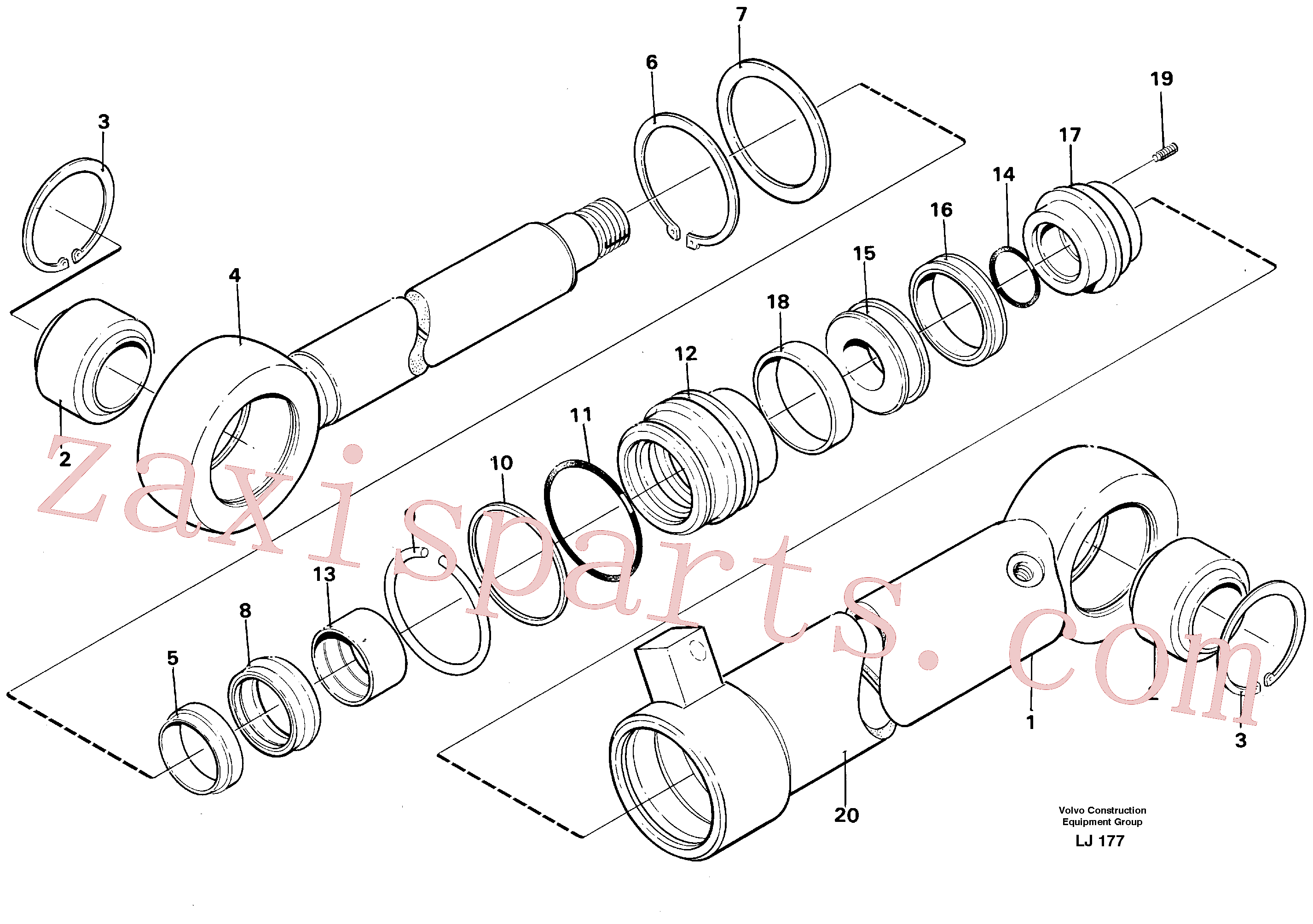 VOE14245980 for Volvo Hydraulic cylinder(LJ177 assembly)