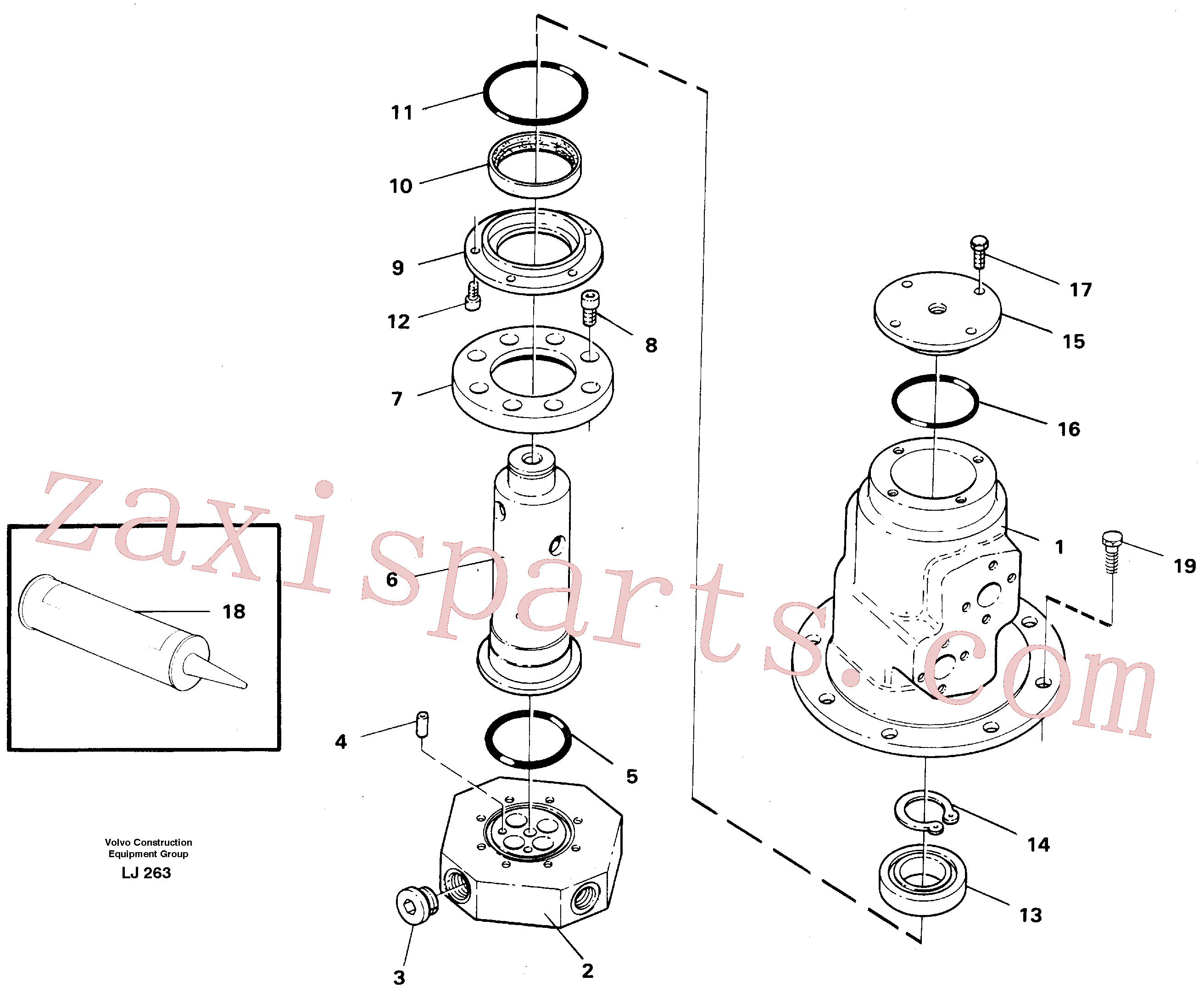 VOE14013984 for Volvo Turning joint(LJ263 assembly)
