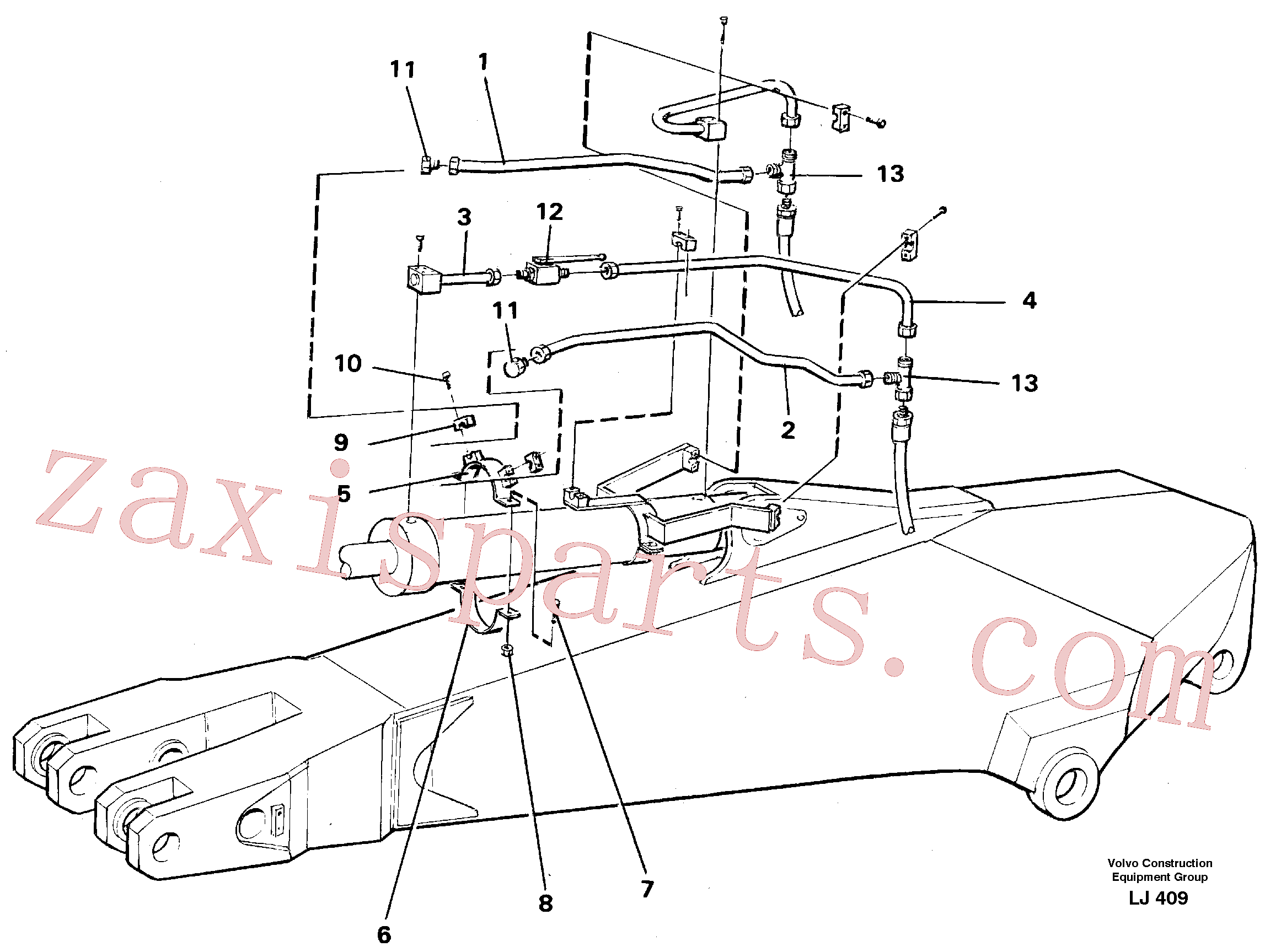 VOE14249977 for Volvo Parallel connected grab hydraulics on dipper arm.(LJ409 assembly)
