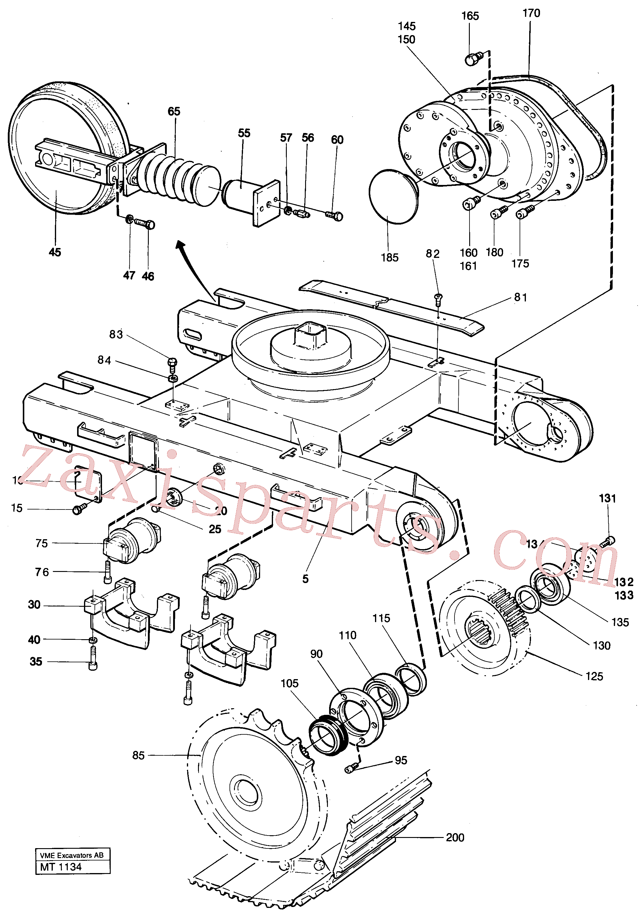 VOE4780974 for Volvo Undercarriage Ec 230 Undercarriage Ec 229(MT1134 assembly)