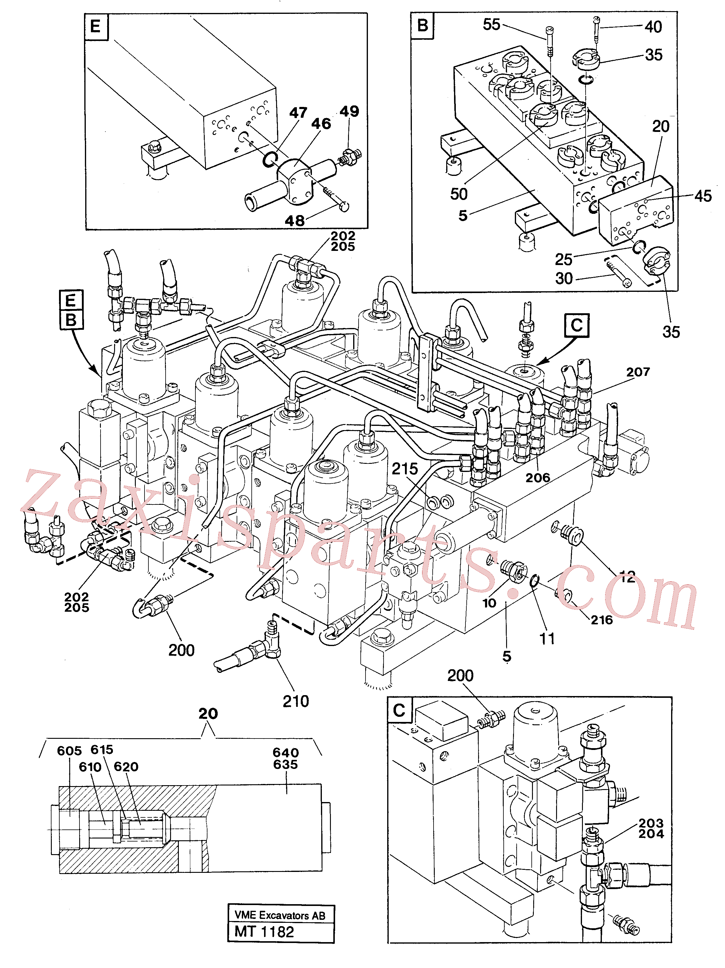VOE14213275 for Volvo Main valve assembly with connections(MT1182 assembly)