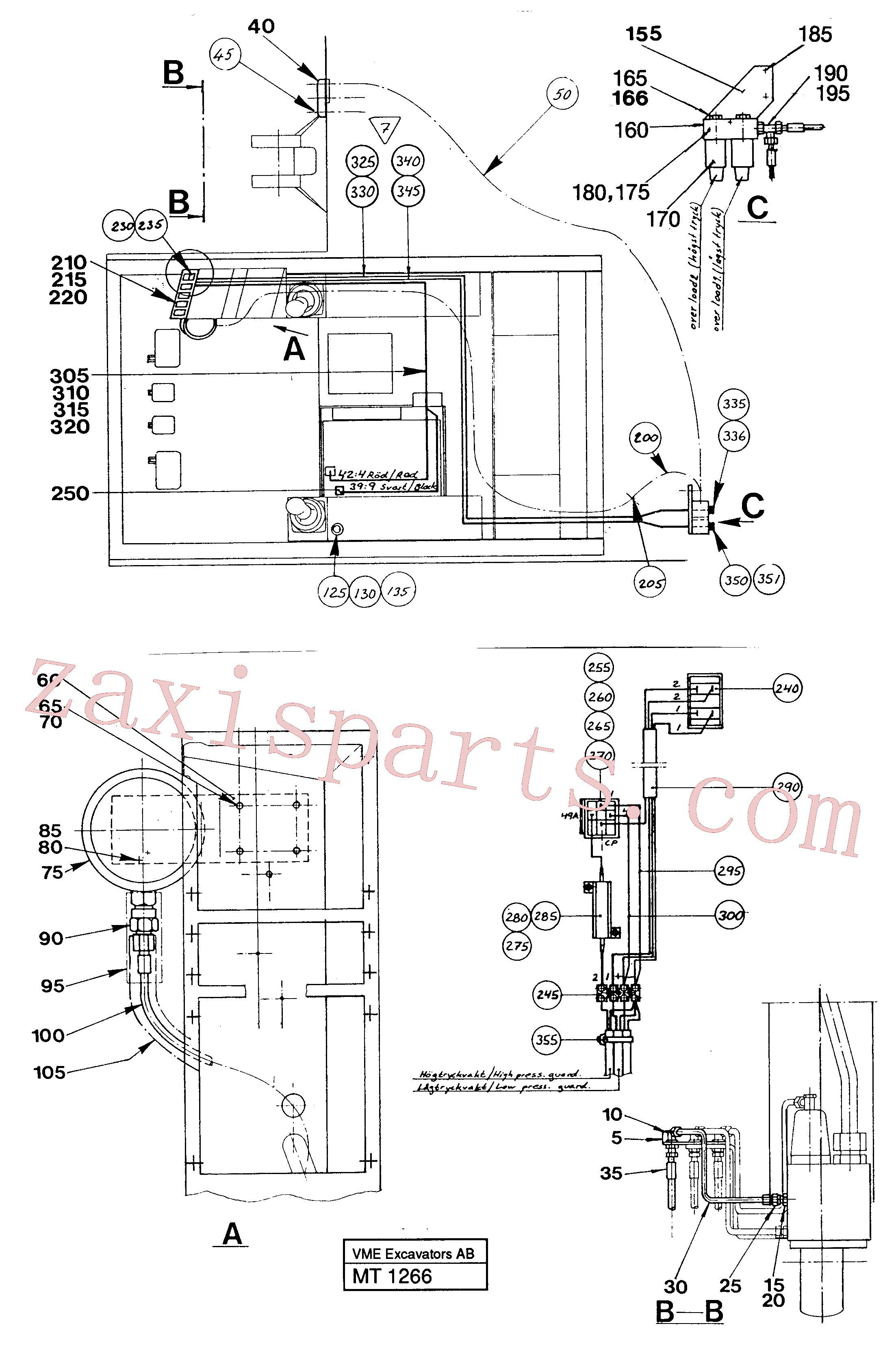VOE14248974 for Volvo Load limiting device(MT1266 assembly)