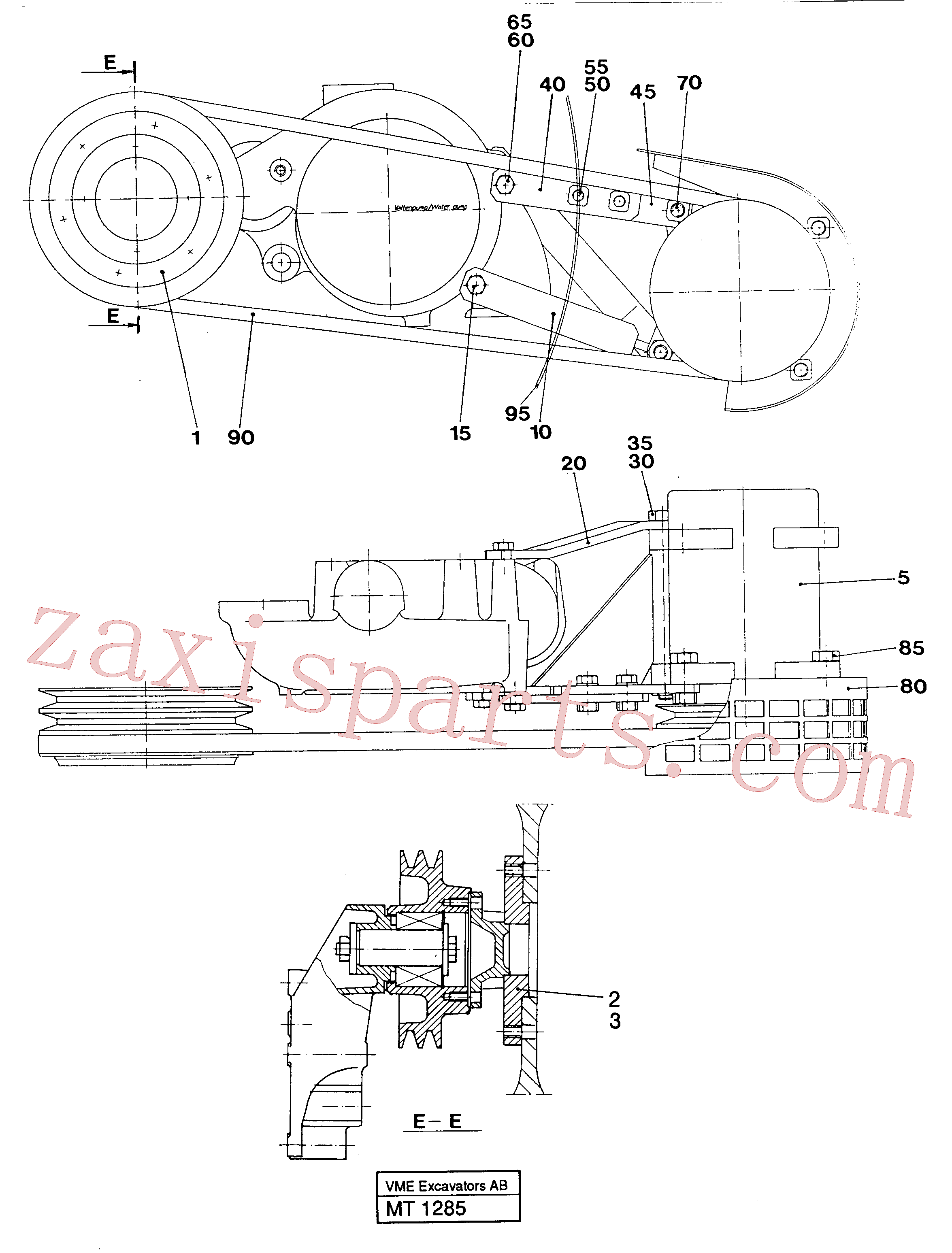 VOE13961169 for Volvo Ac-compressor installation(MT1285 assembly)