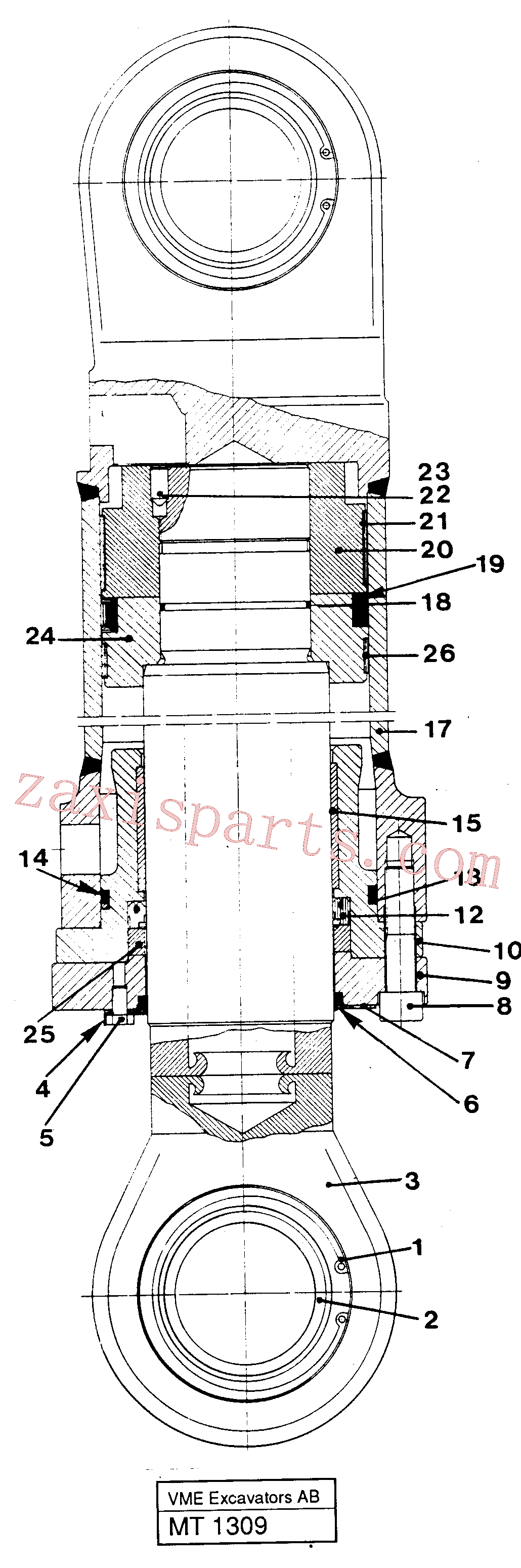 VOE14230235 for Volvo Dipper cylinder materials handling equipm, Dipper arm cylinder(MT1309 assembly)