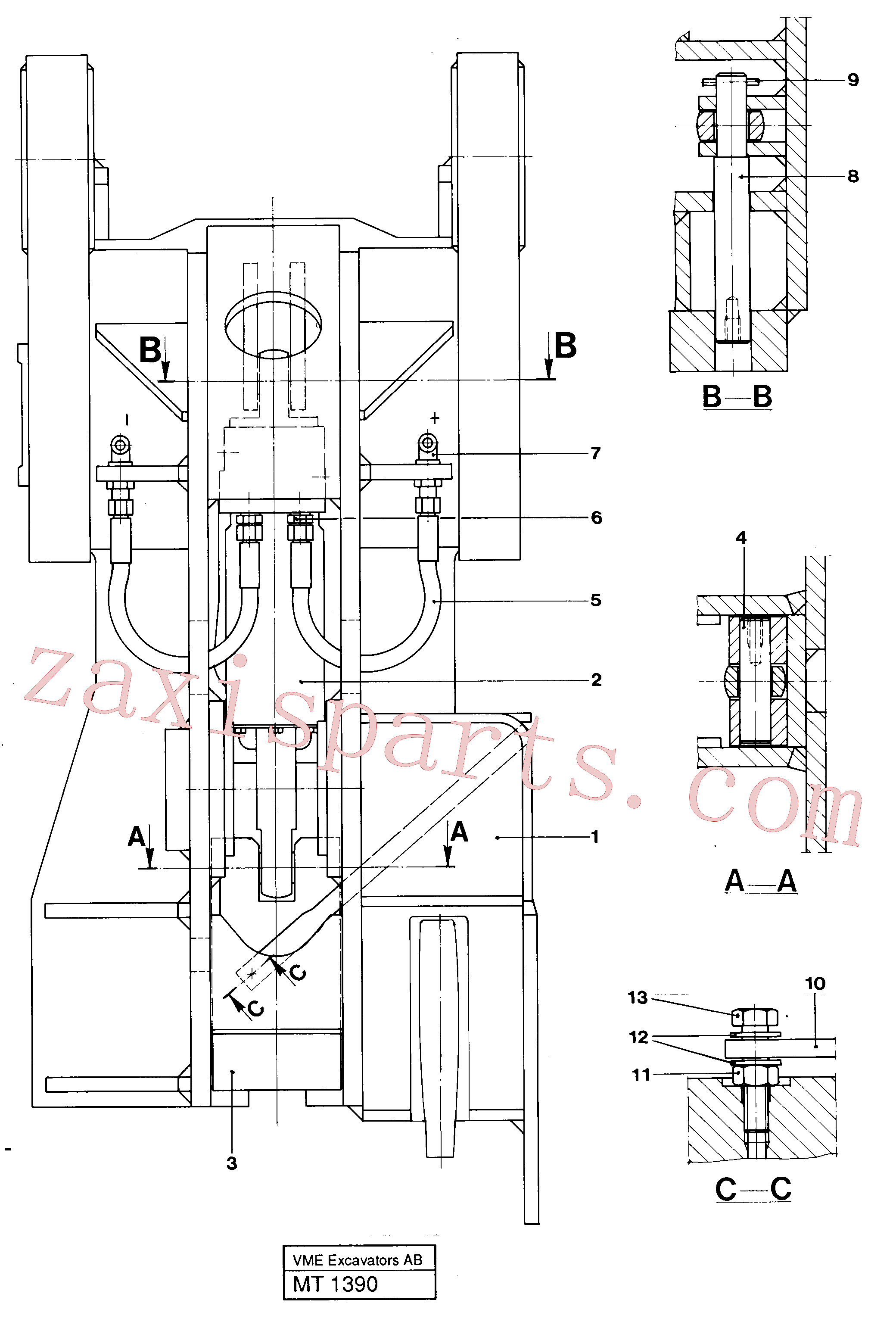 VOE14237587 for Volvo Hydraulic quick fit, Quickfit, hydraulic(MT1390 assembly)
