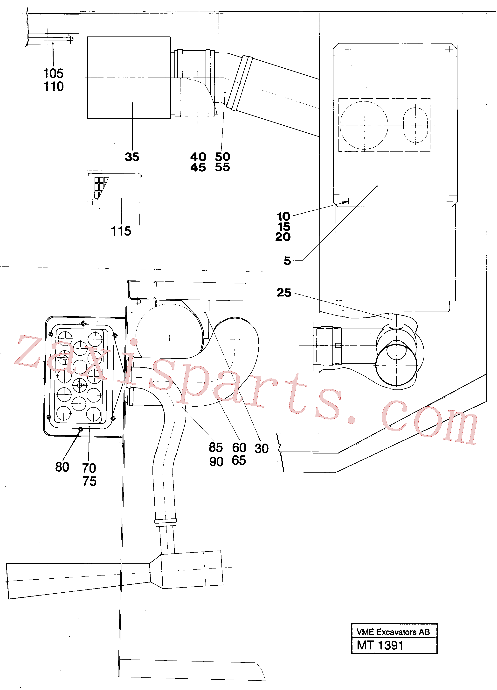 VOE14248986 for Volvo Precyclone with ejector(MT1391 assembly)